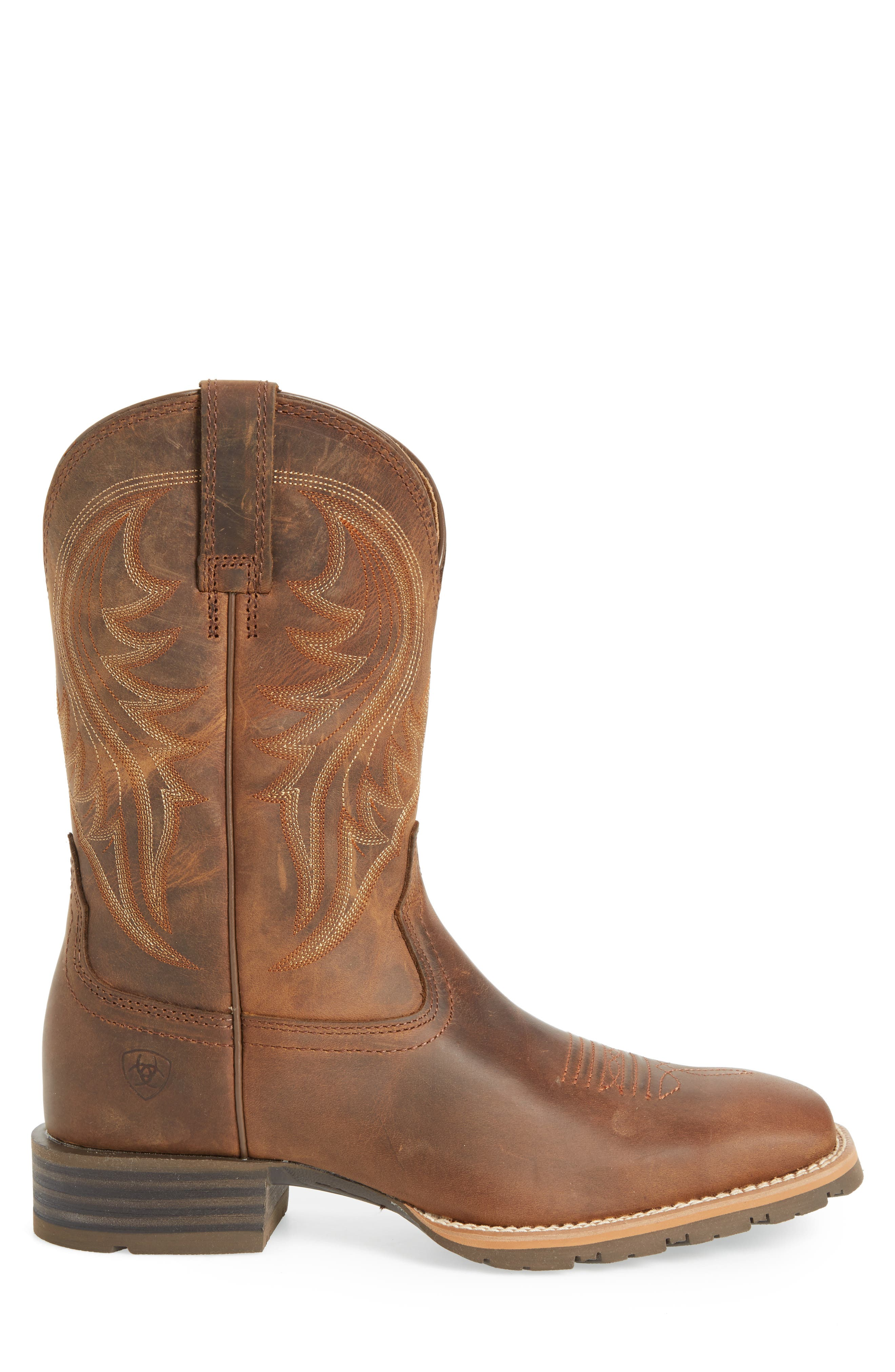 Hybrid Rancher Cowboy Boot,                             Alternate thumbnail 3, color,                             DISTRESSED BROWN LEATHER