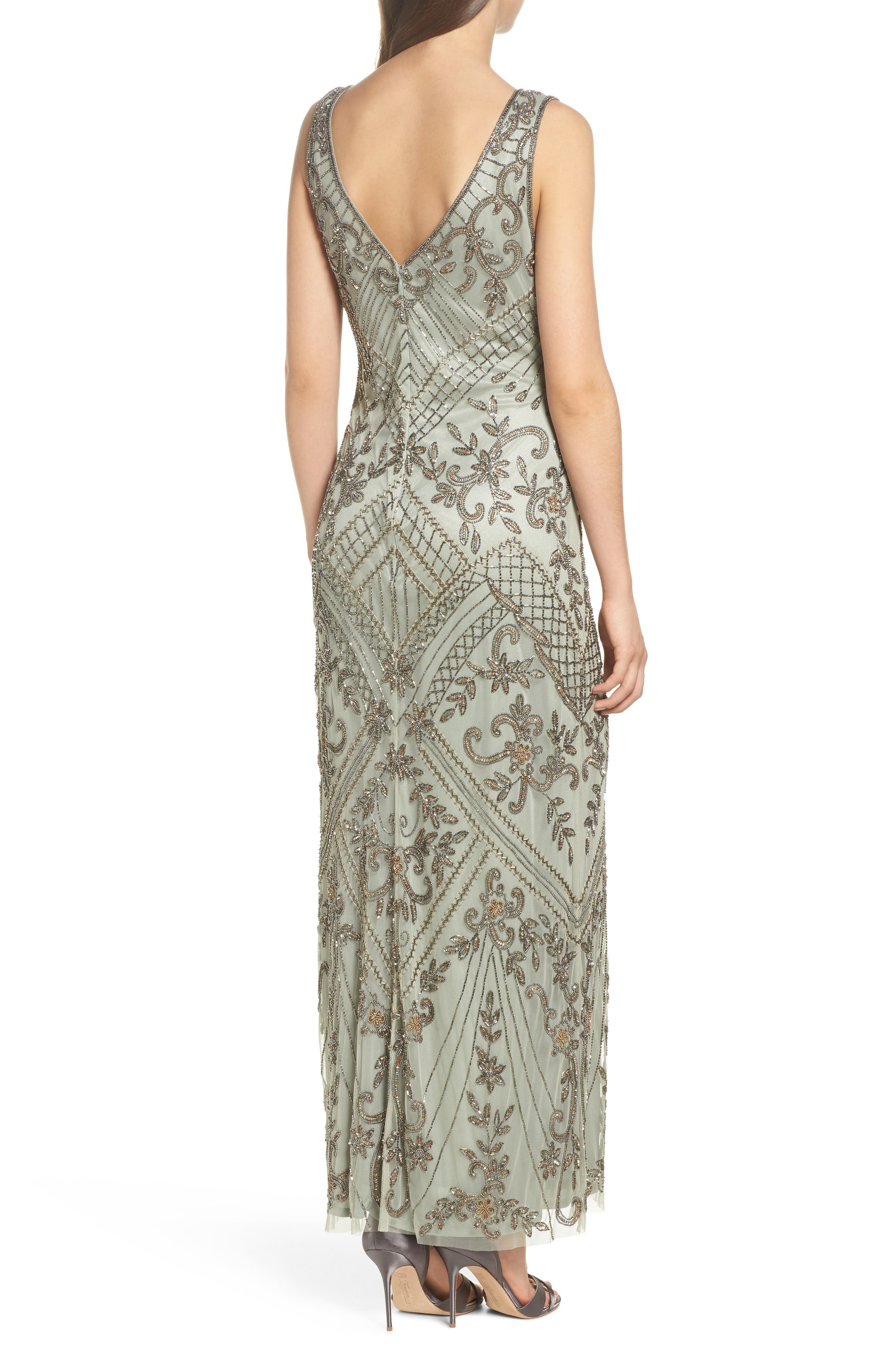 Embellished Mesh Gown,                             Alternate thumbnail 2, color,                             302