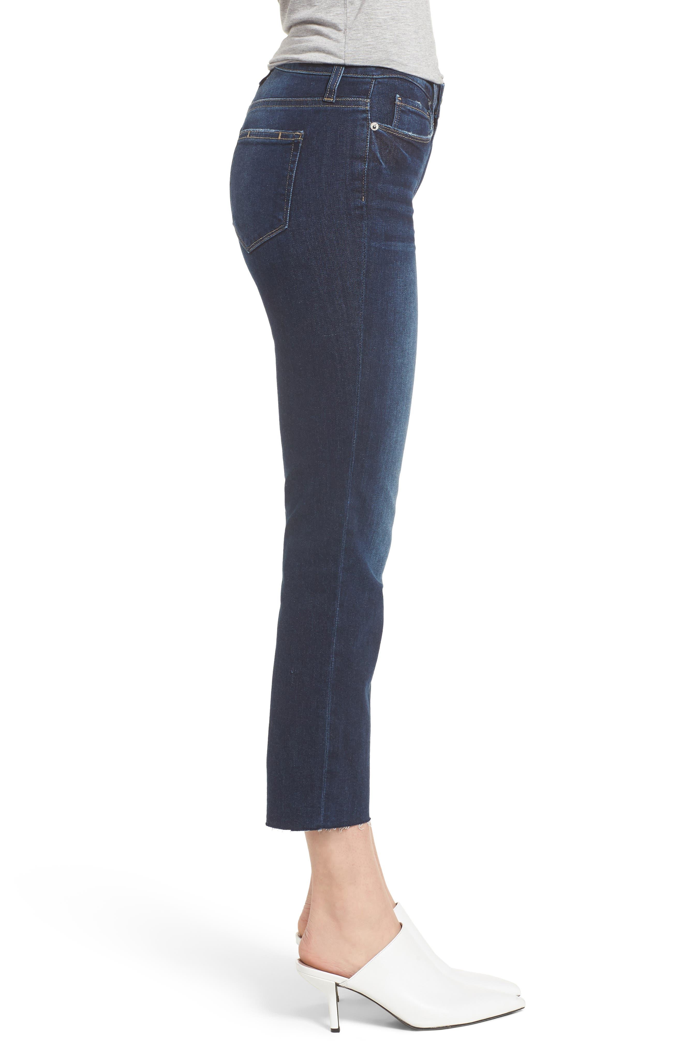 Hoxton Transcend Vintage High Waist Crop Straight Leg Jeans,                             Alternate thumbnail 3, color,                             400
