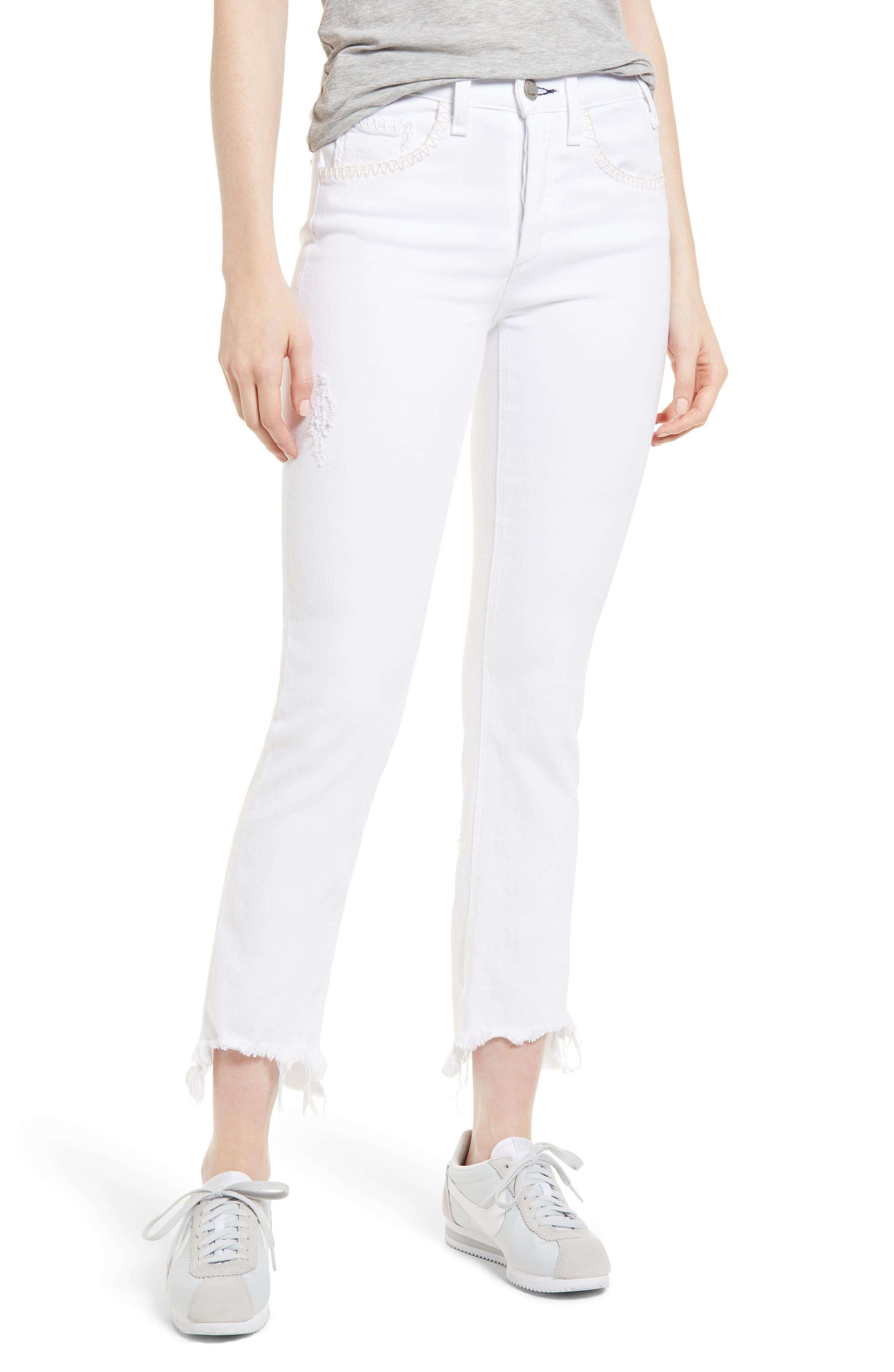 Valetta Step Hem Straight Leg Jeans,                         Main,                         color, SIDARI