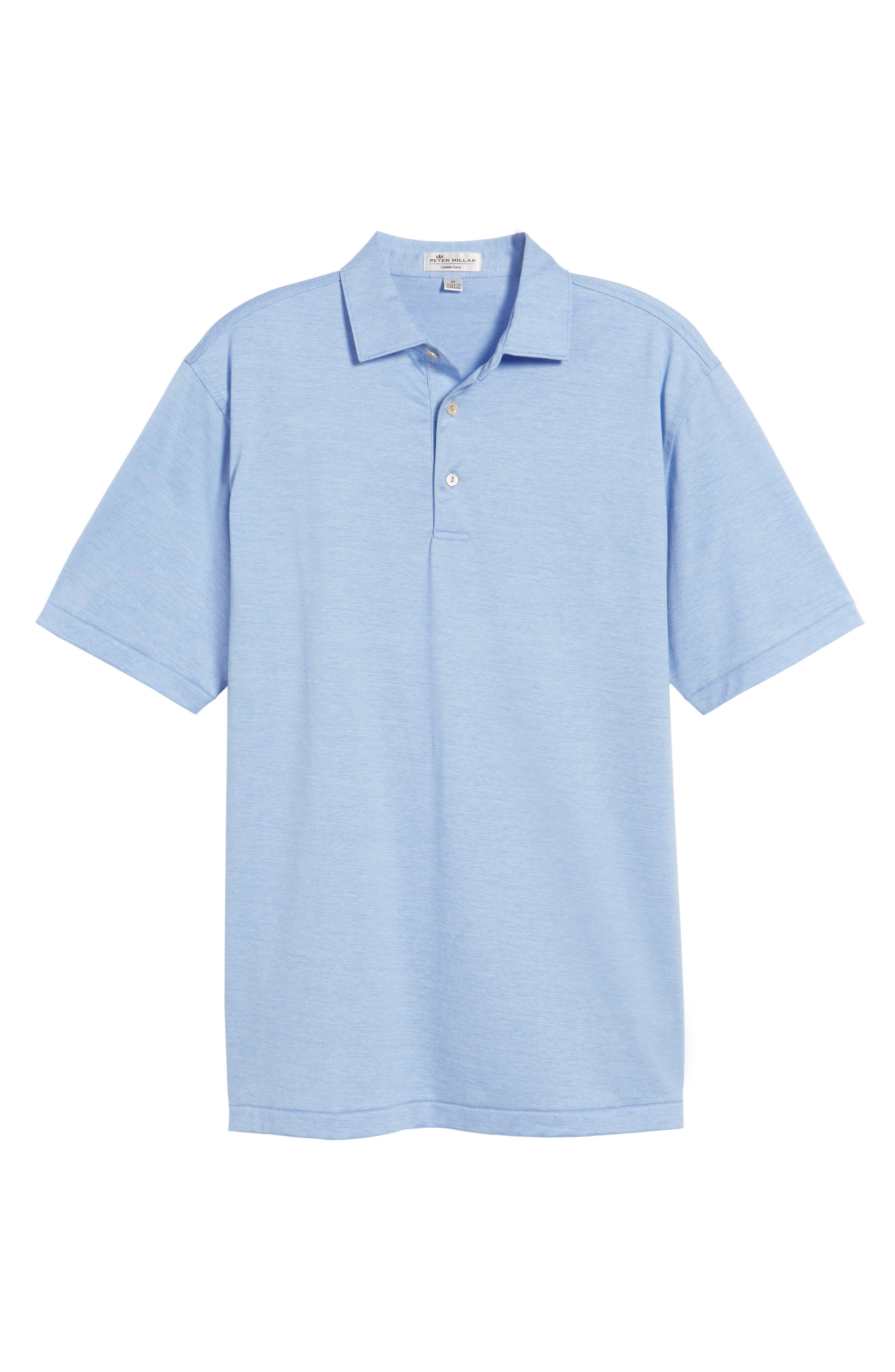 PETER MILLAR,                             Briarwood Stripe Cotton Polo,                             Alternate thumbnail 6, color,                             ATLAS BLUE