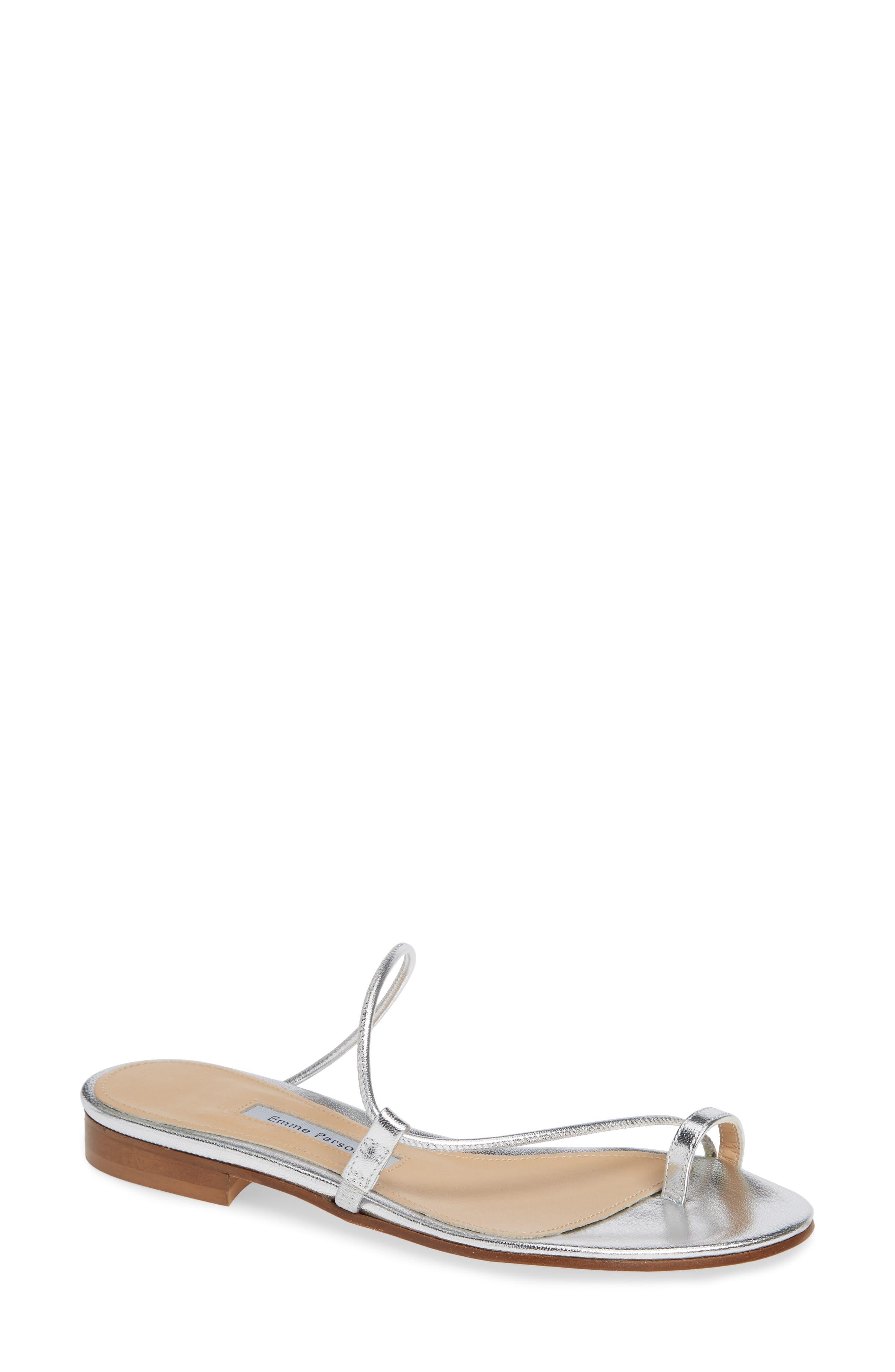 EMME PARSONS Susan Slide Sandal in Silver