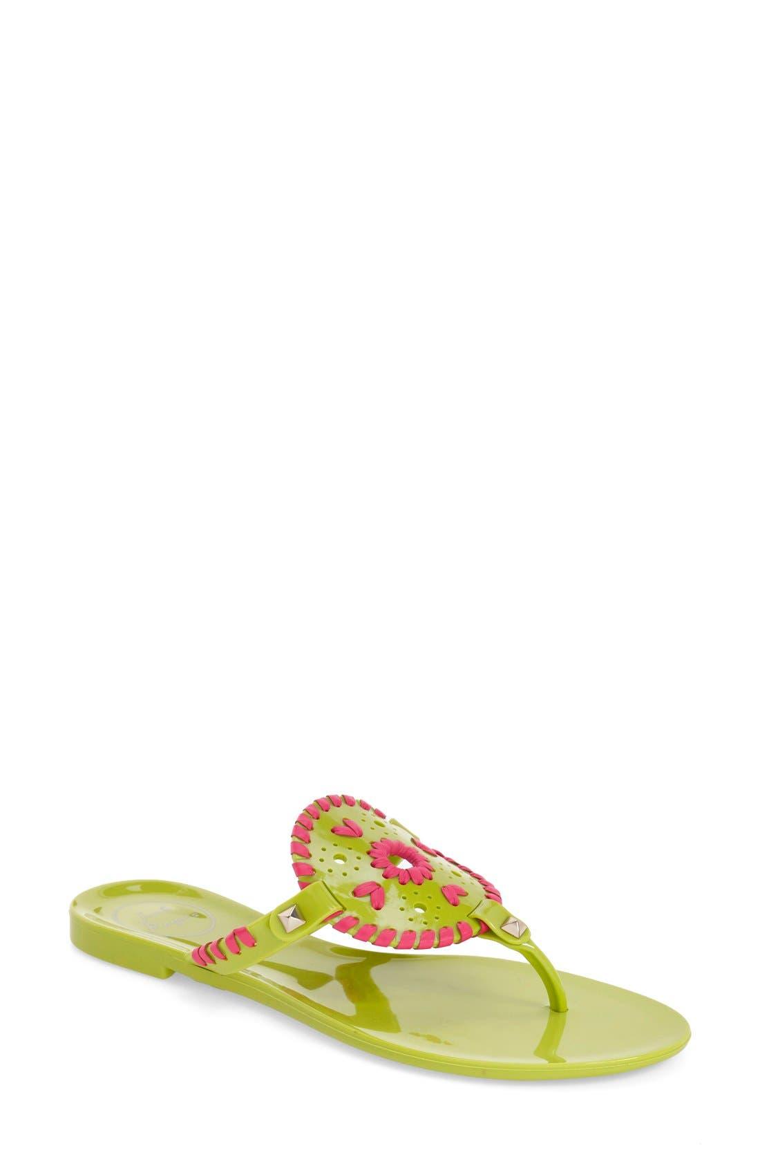 'Georgica' Jelly Flip Flop,                             Main thumbnail 31, color,