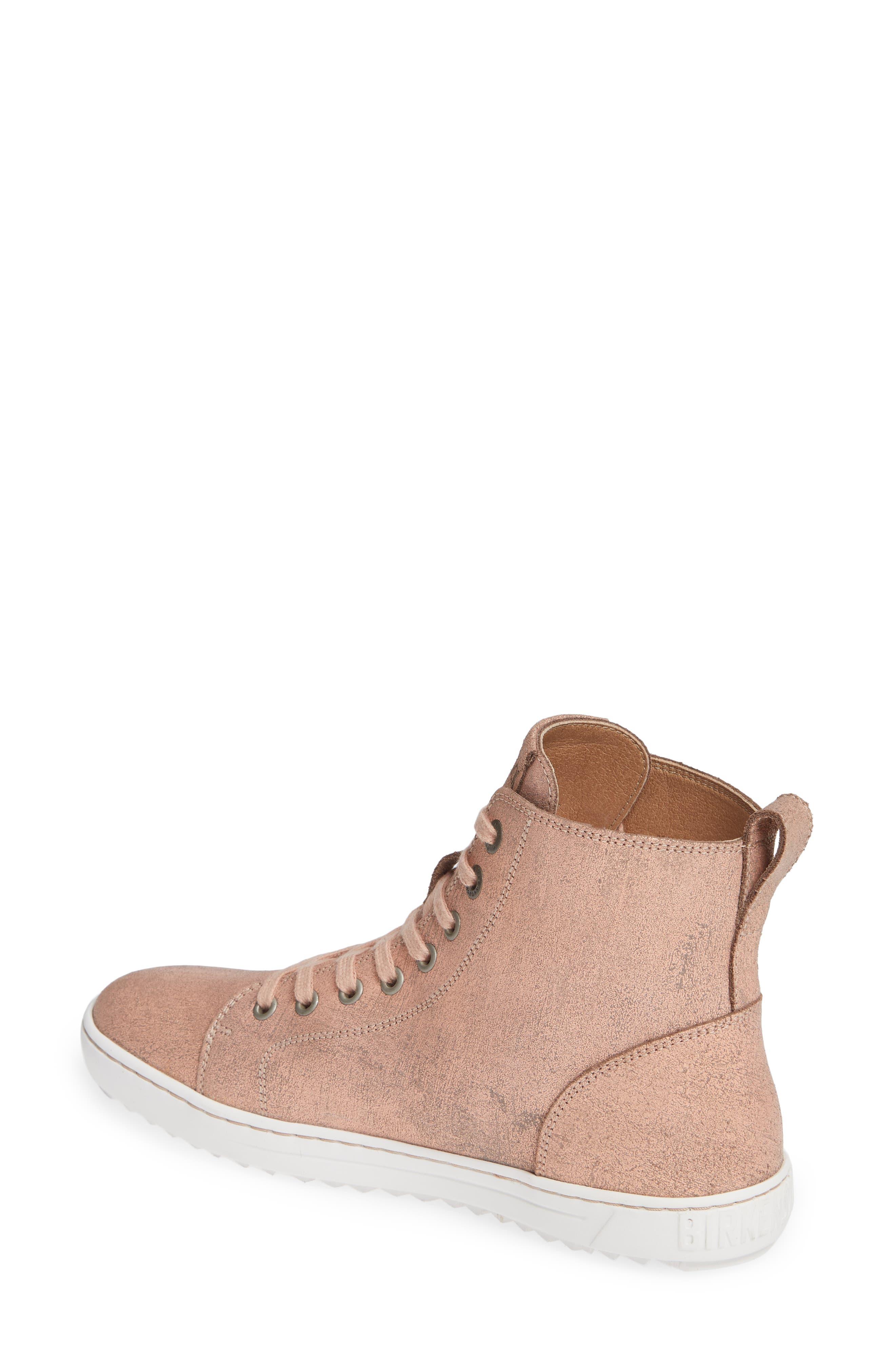Bartlett High Top Sneaker,                             Alternate thumbnail 2, color,                             METALLIC ROSE LEATHER