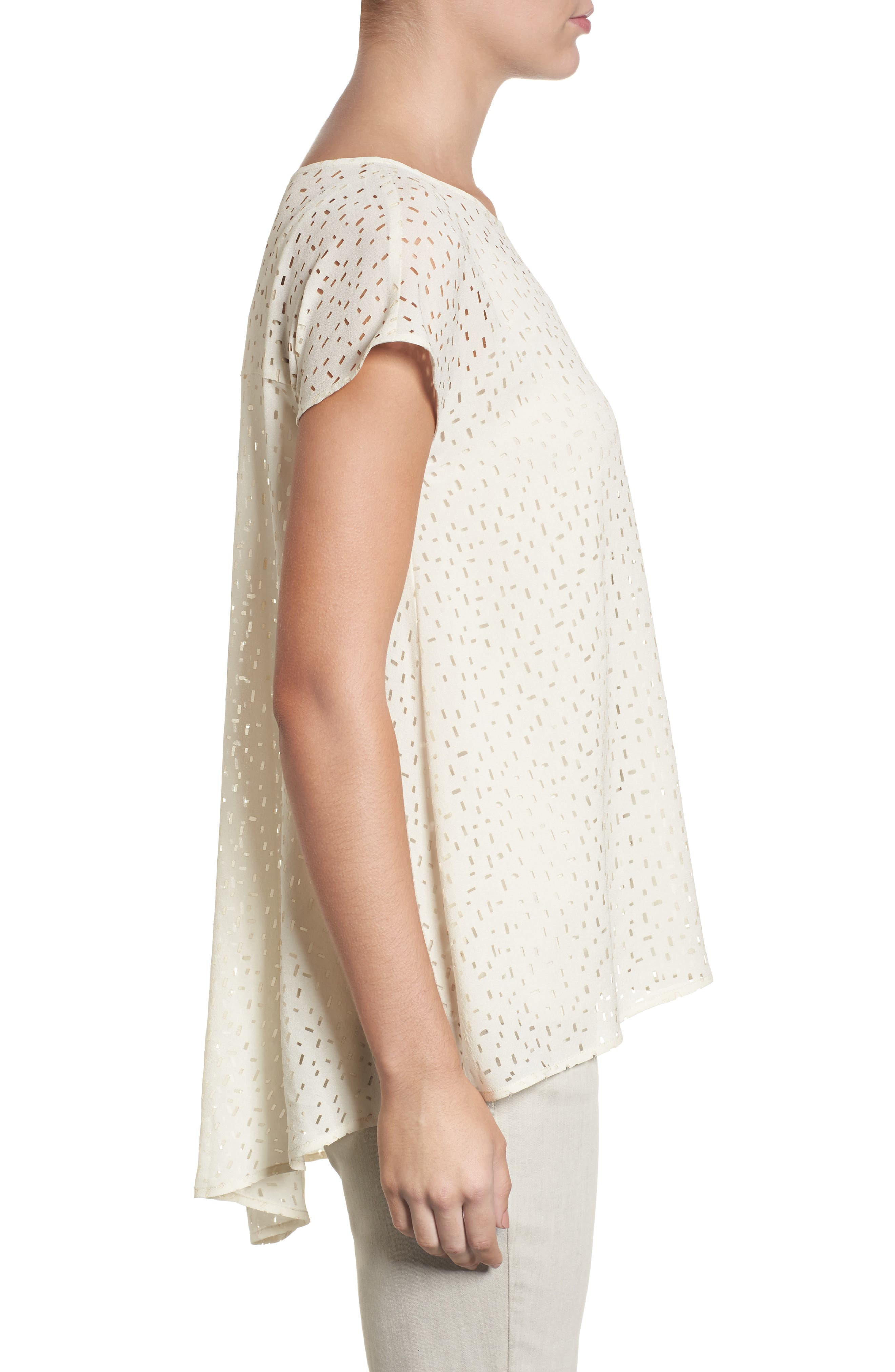 Cutwork Silk Top,                             Alternate thumbnail 6, color,