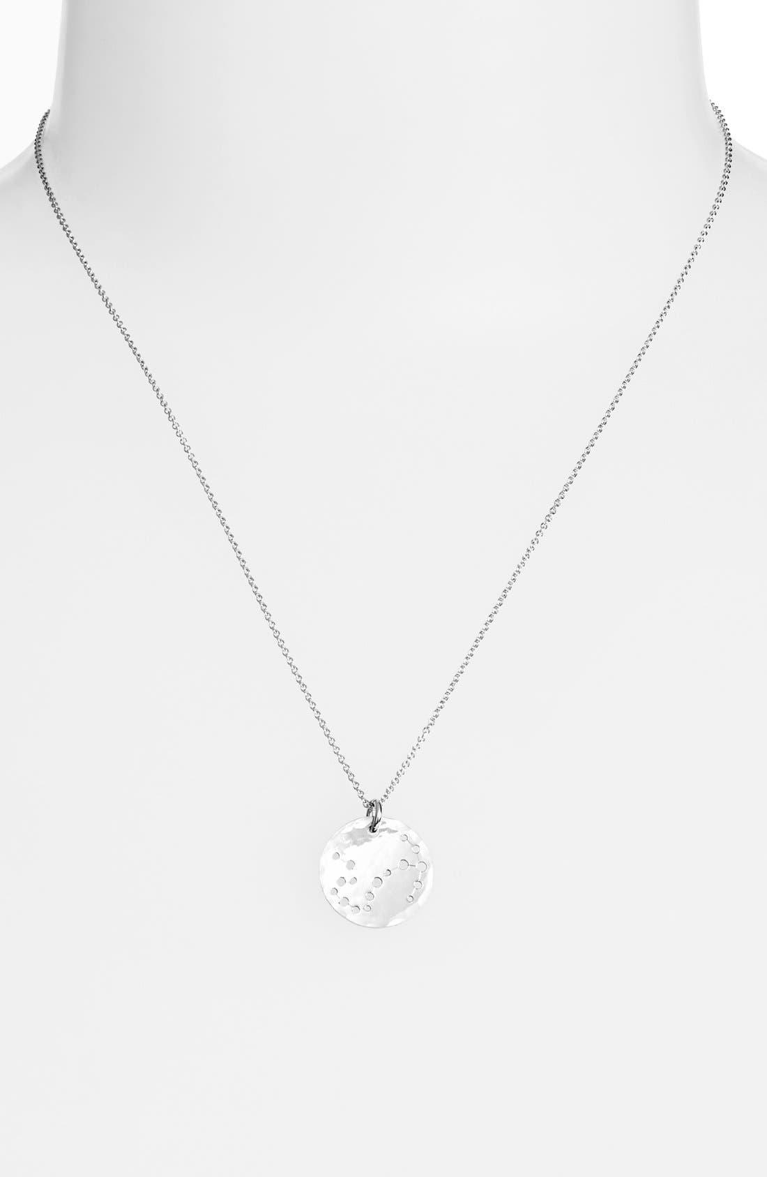 Ija 'Small Zodiac' Sterling Silver Necklace,                             Main thumbnail 8, color,
