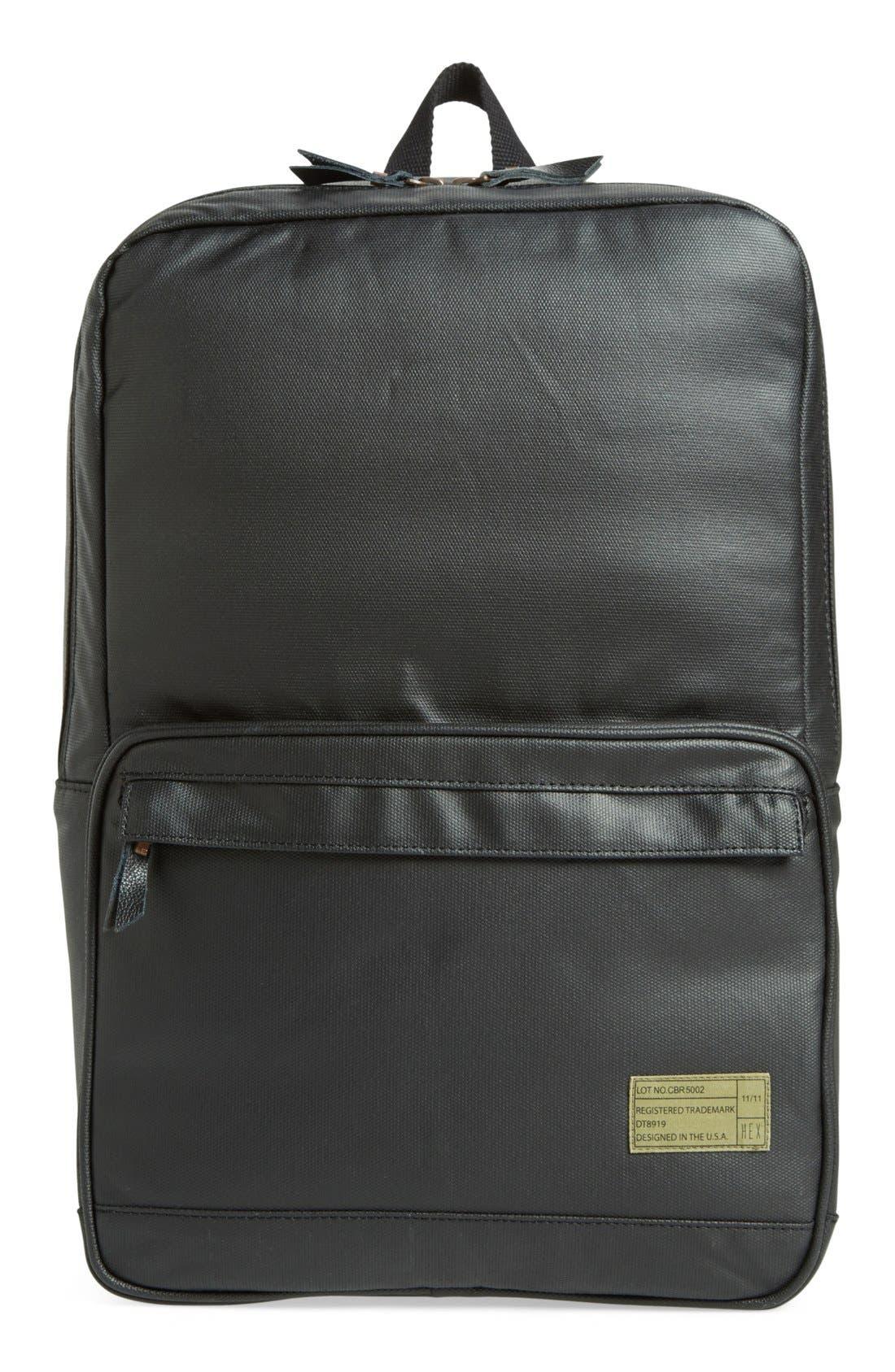 HEX,                             'Origin' Water Resistant Backpack,                             Main thumbnail 1, color,                             001