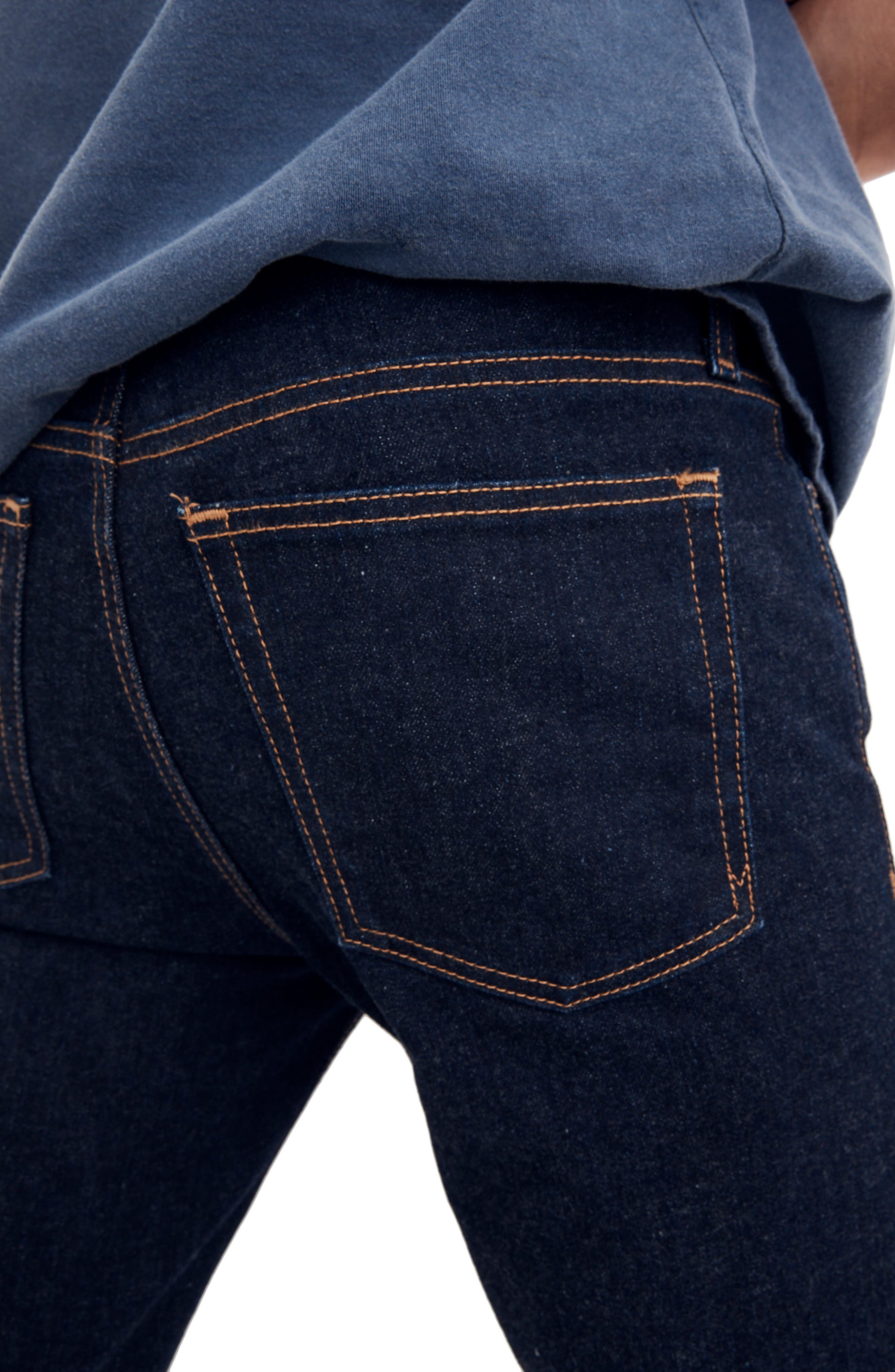 Skinny Fit Jeans,                             Alternate thumbnail 4, color,                             RINSE