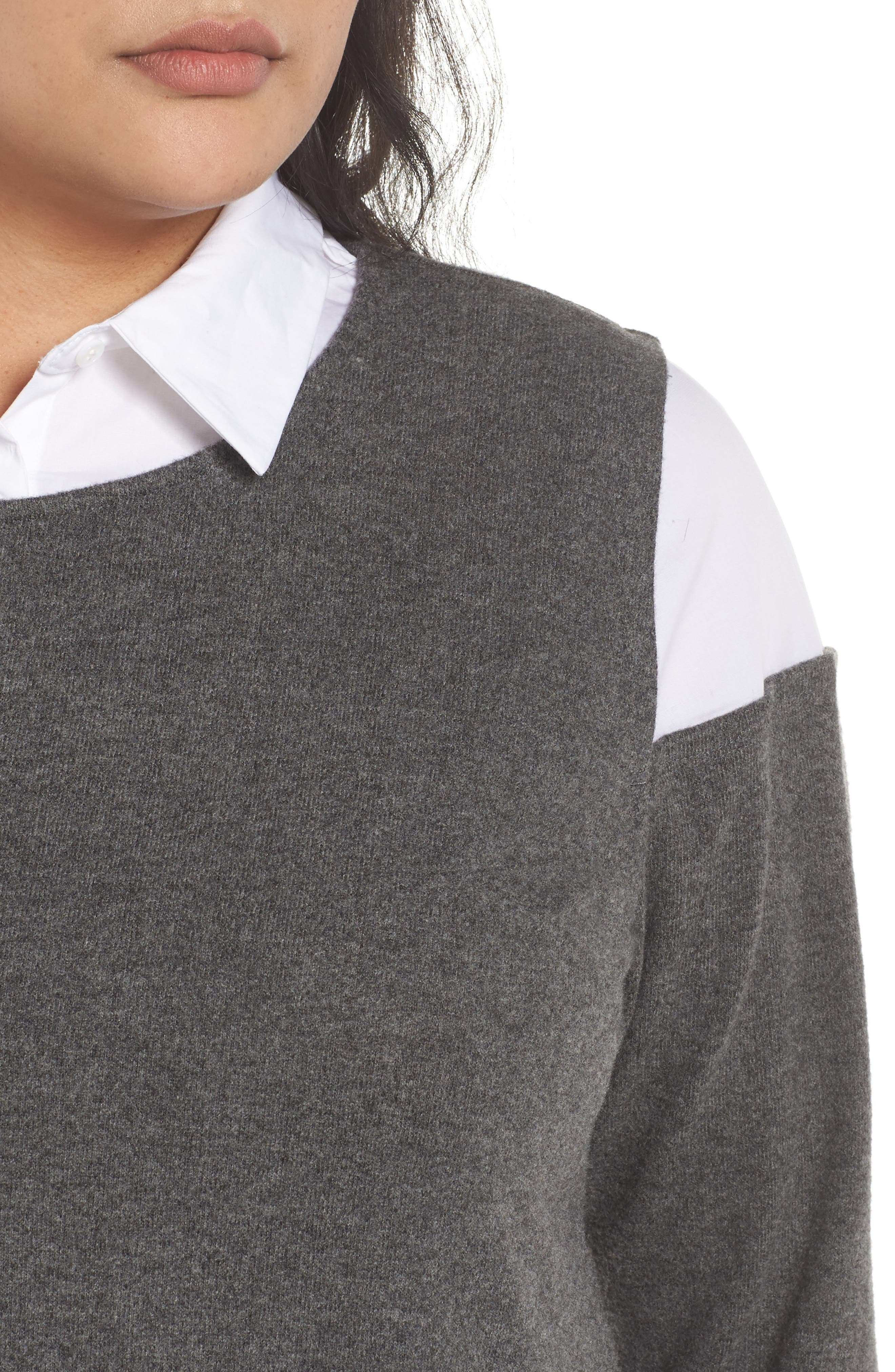 Mix Media Brushed Jersey Top,                             Alternate thumbnail 12, color,