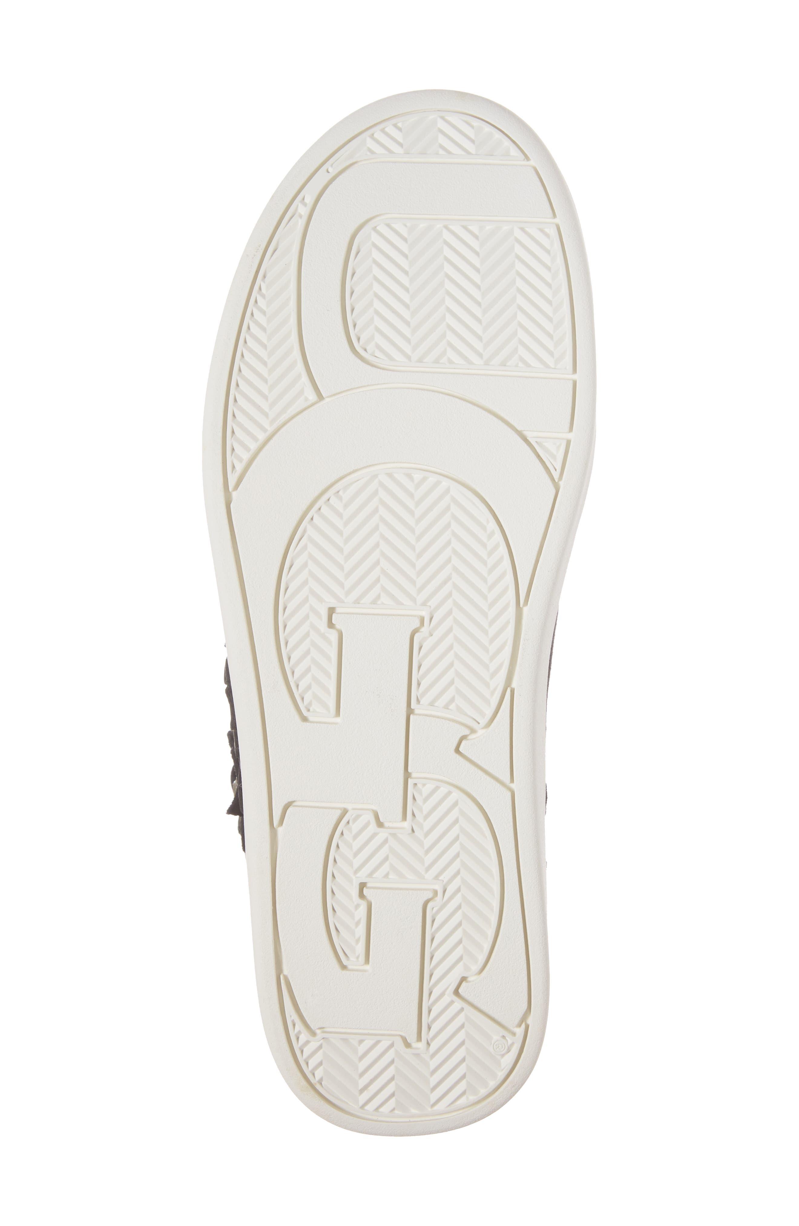 Schyler Petal Embellished High Top Sneaker,                             Alternate thumbnail 6, color,                             001