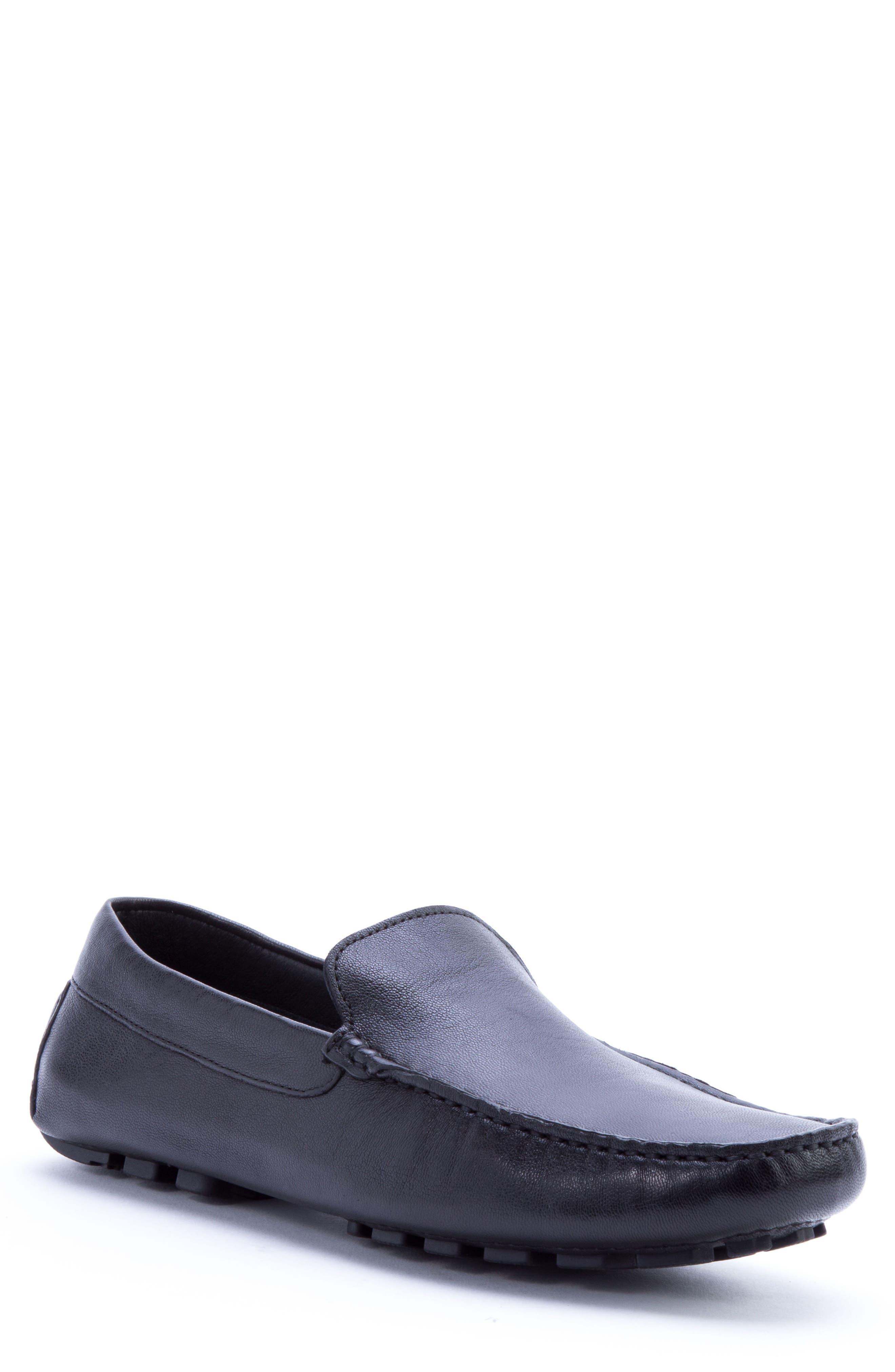 ZANZARA Picasso 3 Moc Toe Driving Loafer, Main, color, BLACK LEATHER