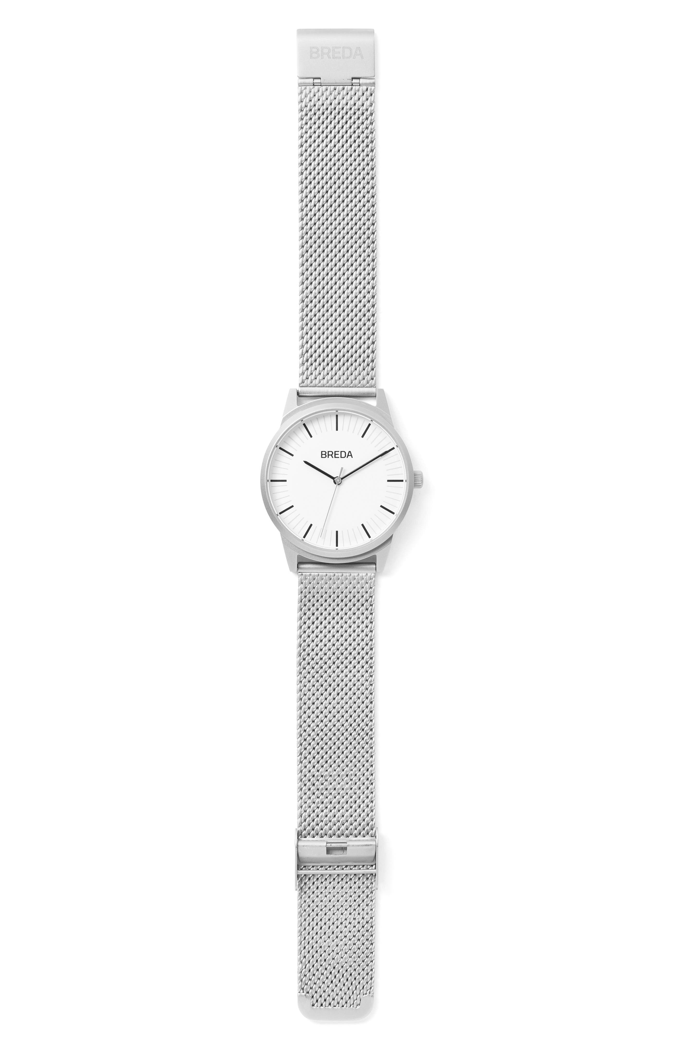 Bresson Mesh Strap Watch, 39mm,                             Alternate thumbnail 5, color,