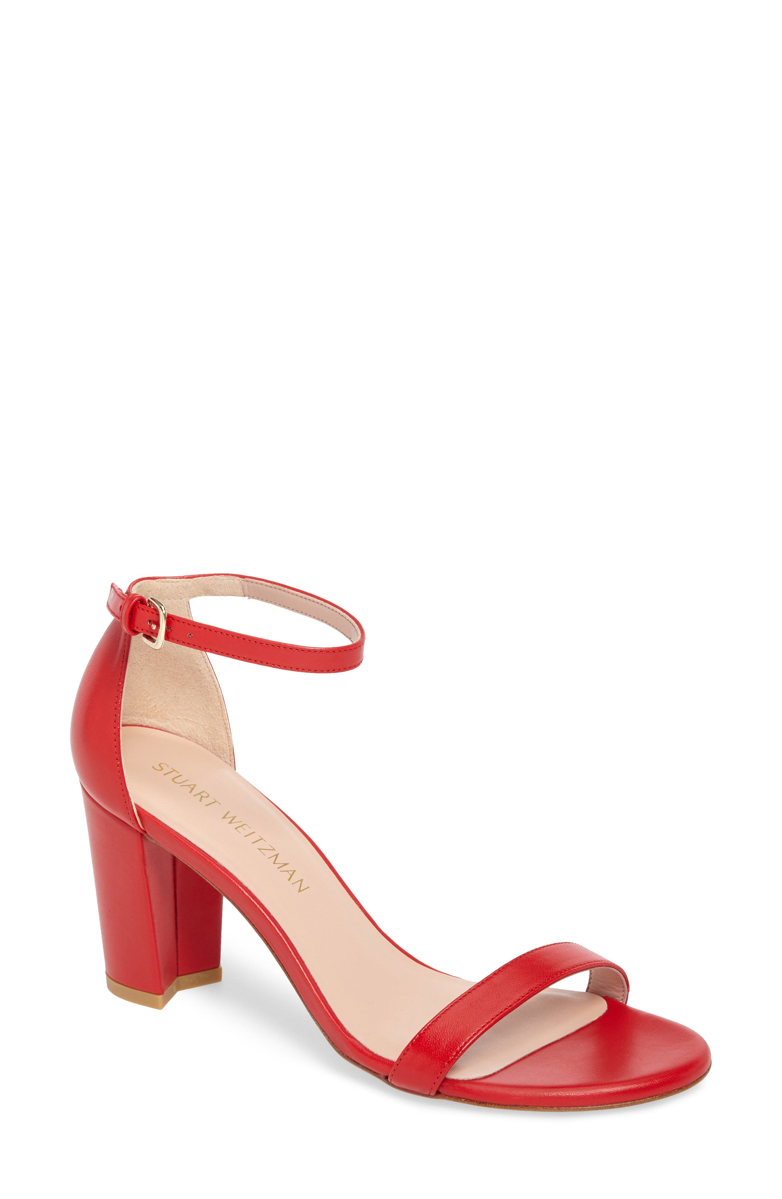 NearlyNude Ankle Strap Sandal,                             Main thumbnail 7, color,