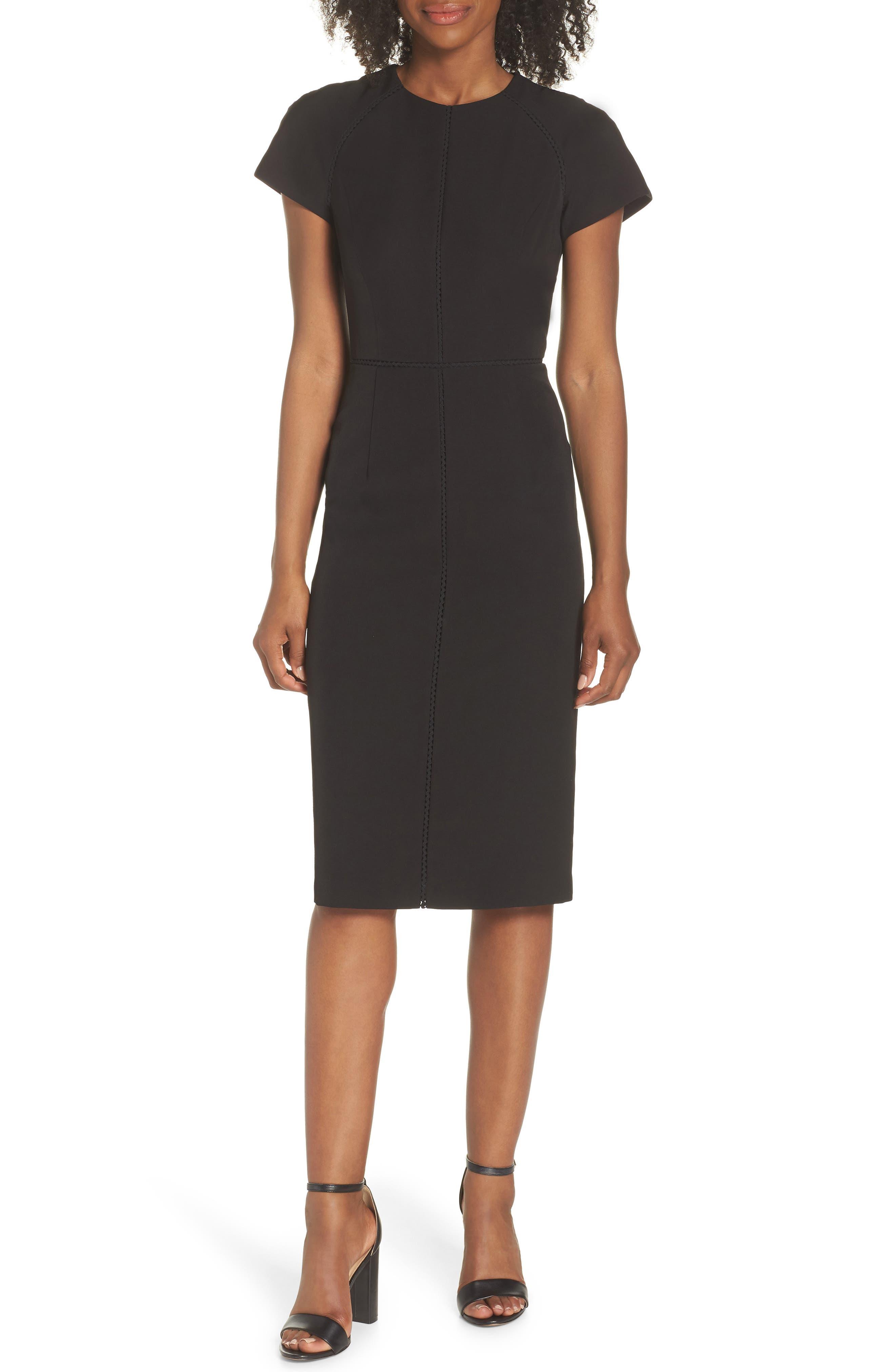 Dream Crepe Sheath Dress,                         Main,                         color, 001