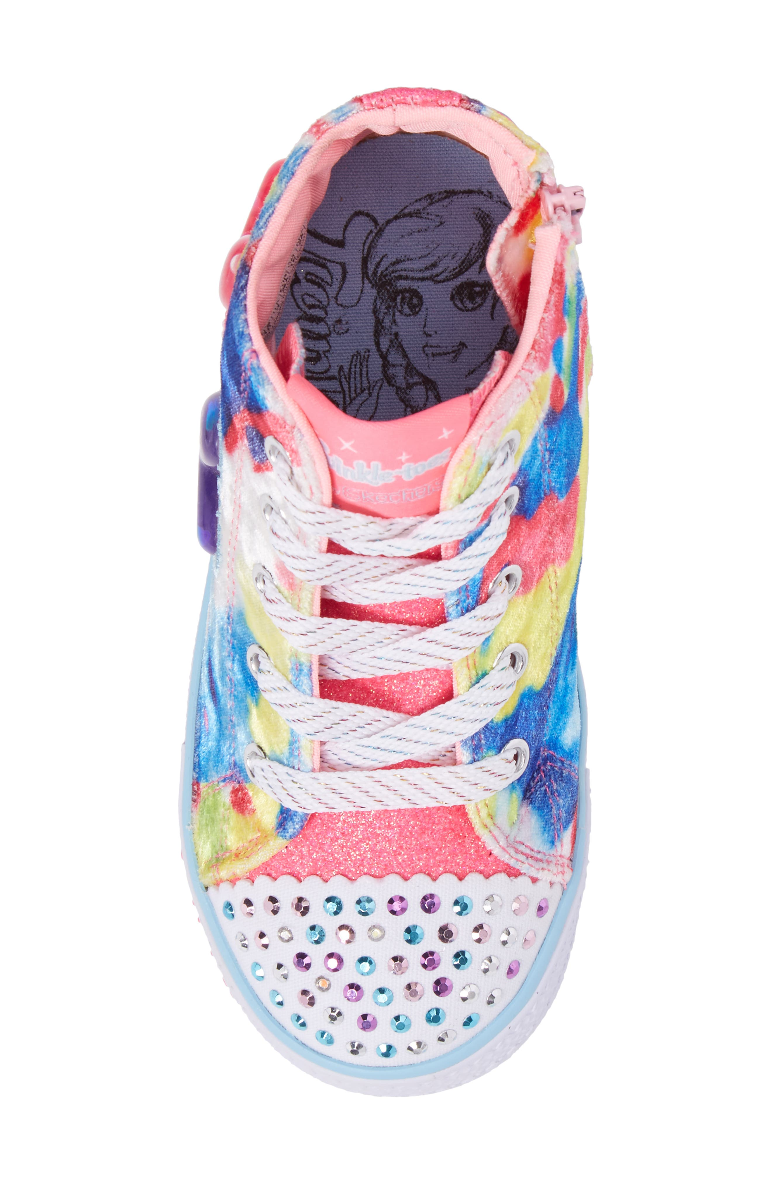 Twinkle Toes Shuffles Light-Up High Top Sneaker,                             Alternate thumbnail 10, color,