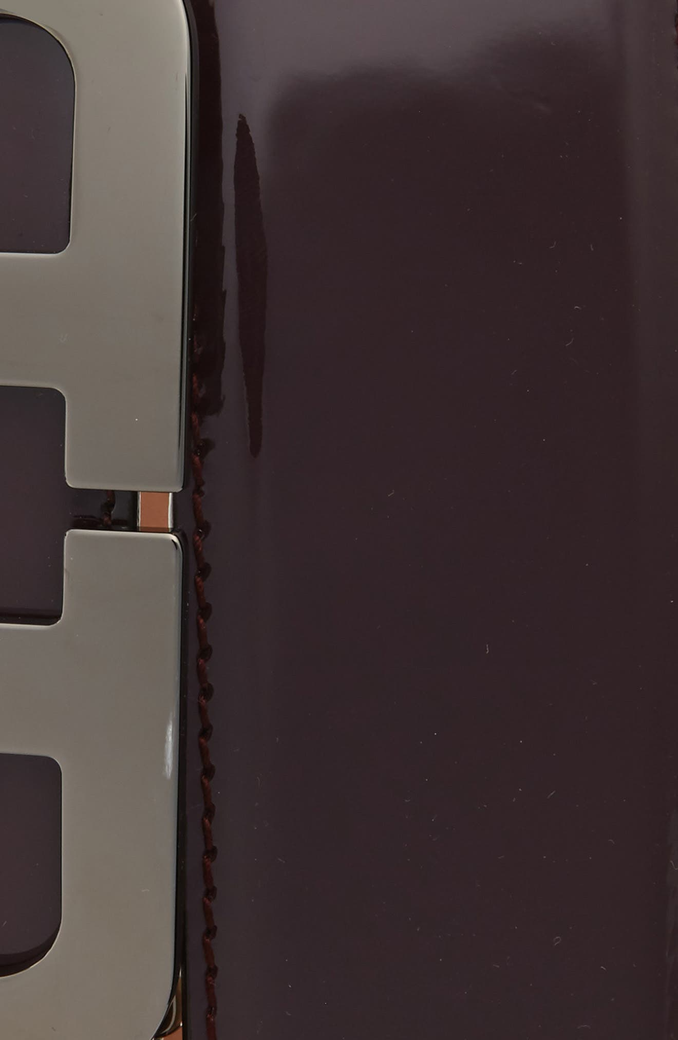 Mirror Buckle Leather Belt,                             Alternate thumbnail 2, color,                             MERLOT