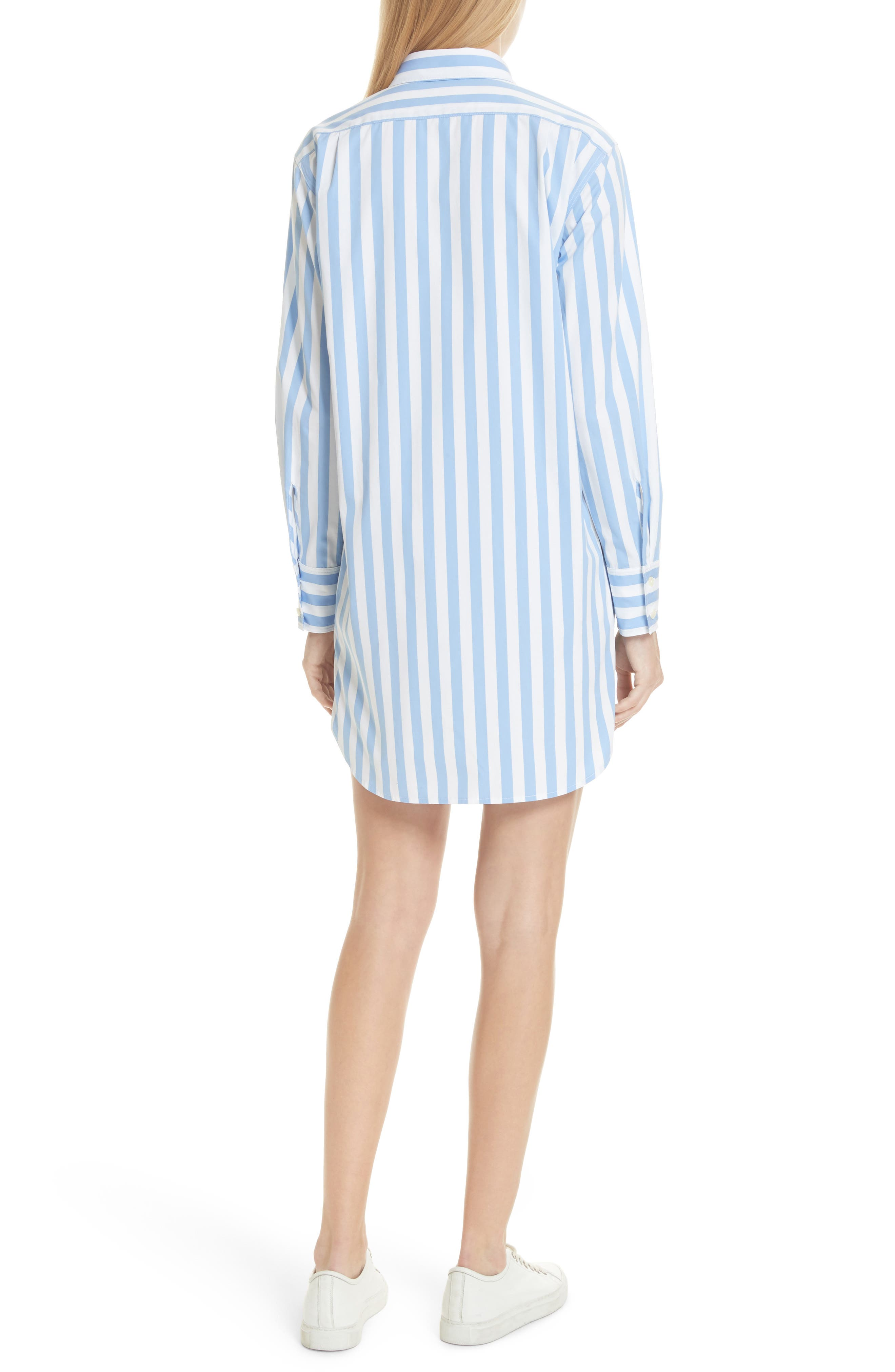 The Shirt Dress,                             Alternate thumbnail 2, color,                             WHITE/ SKY BOLD