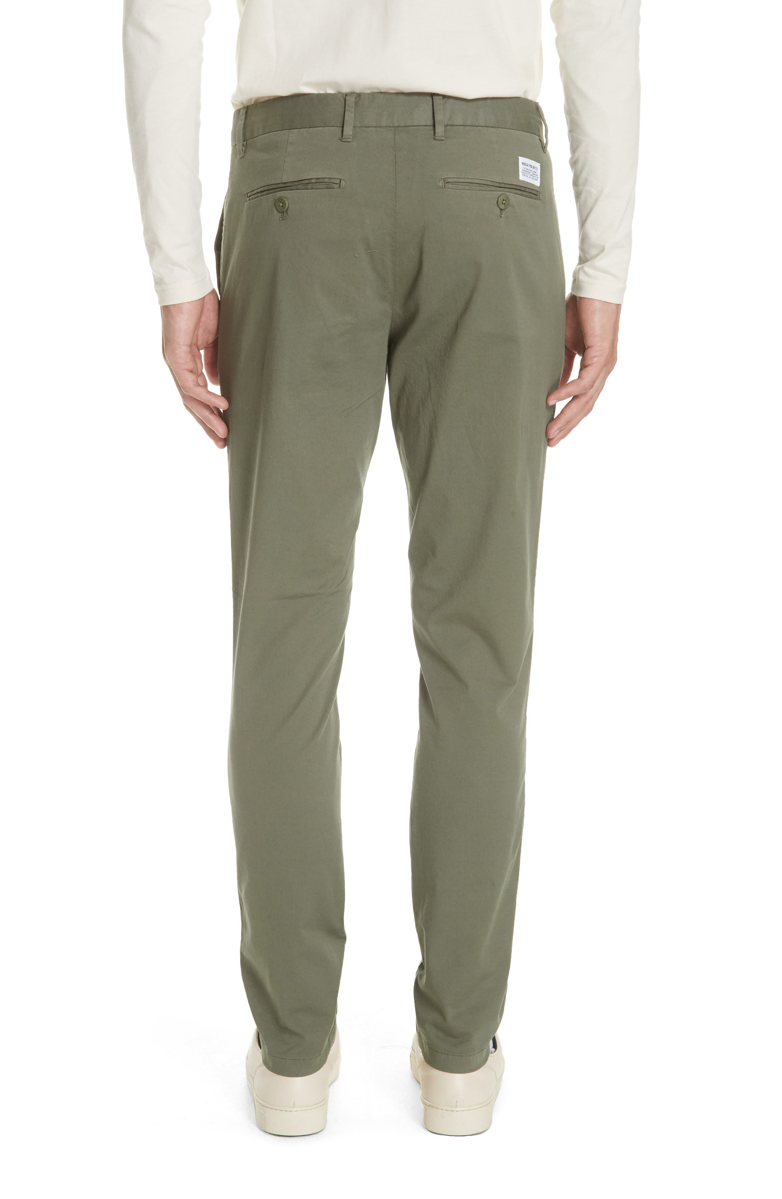 Aros Slim Fit Stretch Twill Pants,                             Alternate thumbnail 2, color,                             DRIED OLIVE