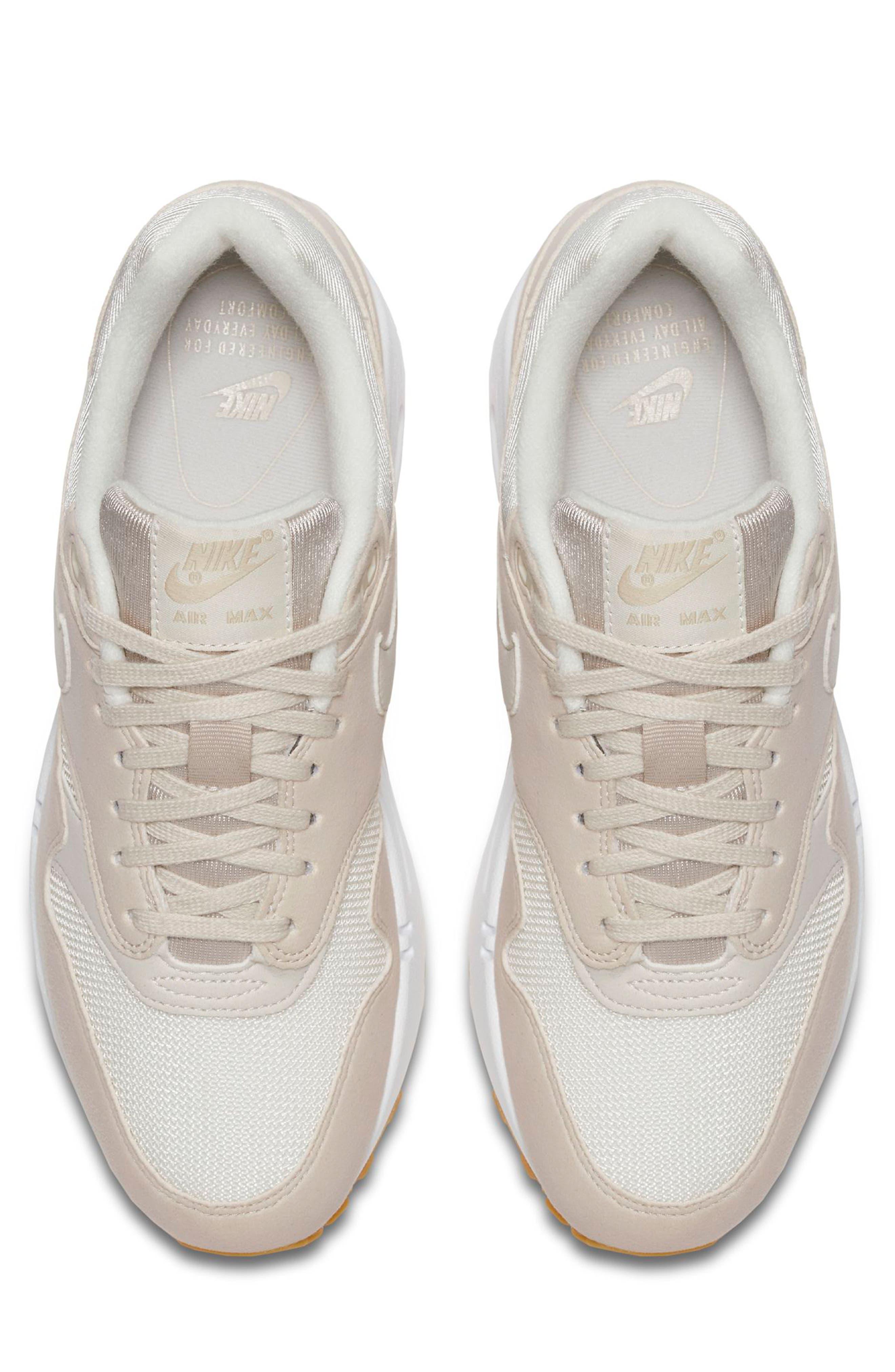 Air Max 1 Sneaker,                             Alternate thumbnail 4, color,                             DESERT SAND