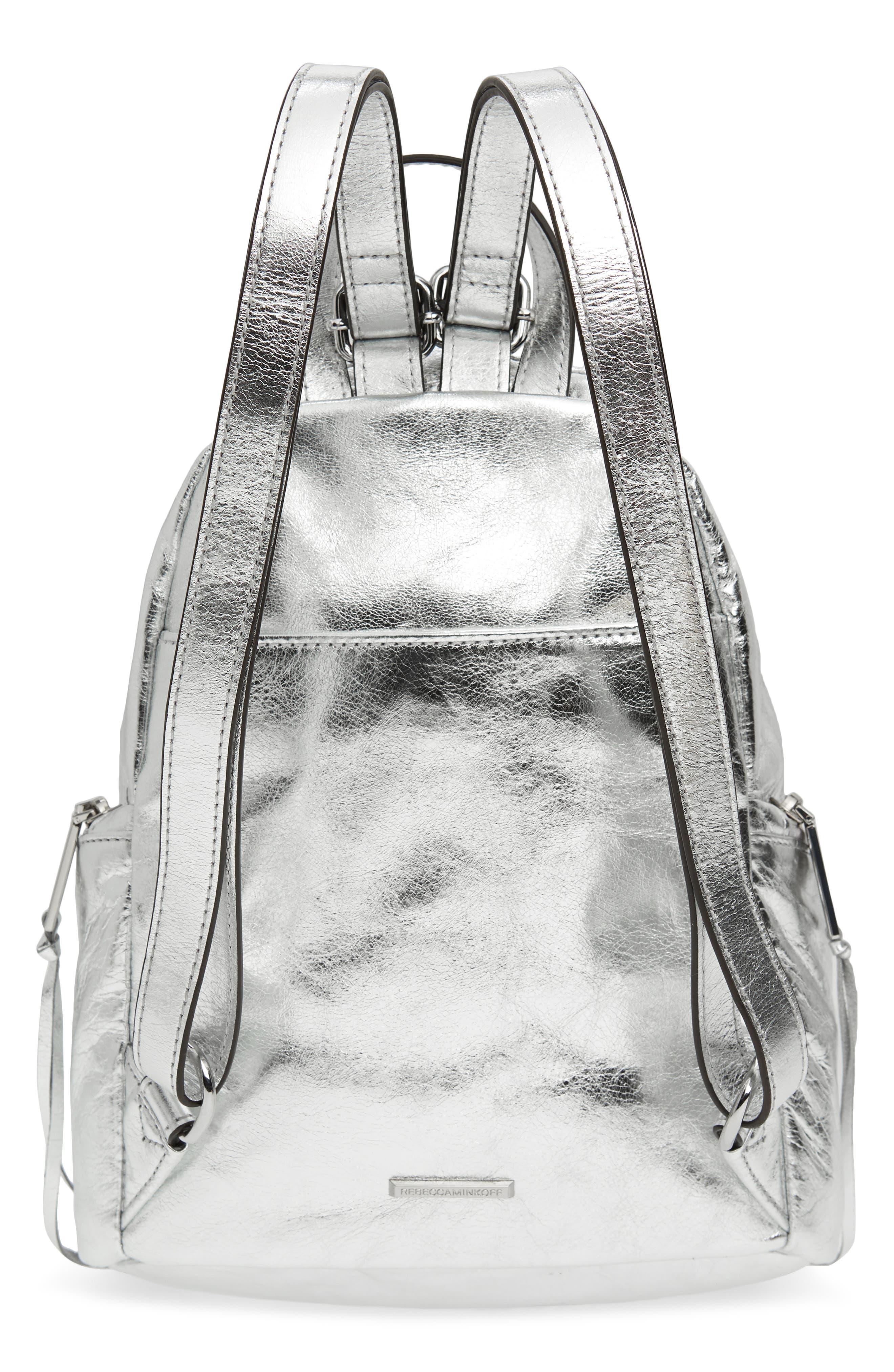 Medium Julian Leather Backpack,                             Alternate thumbnail 3, color,                             040