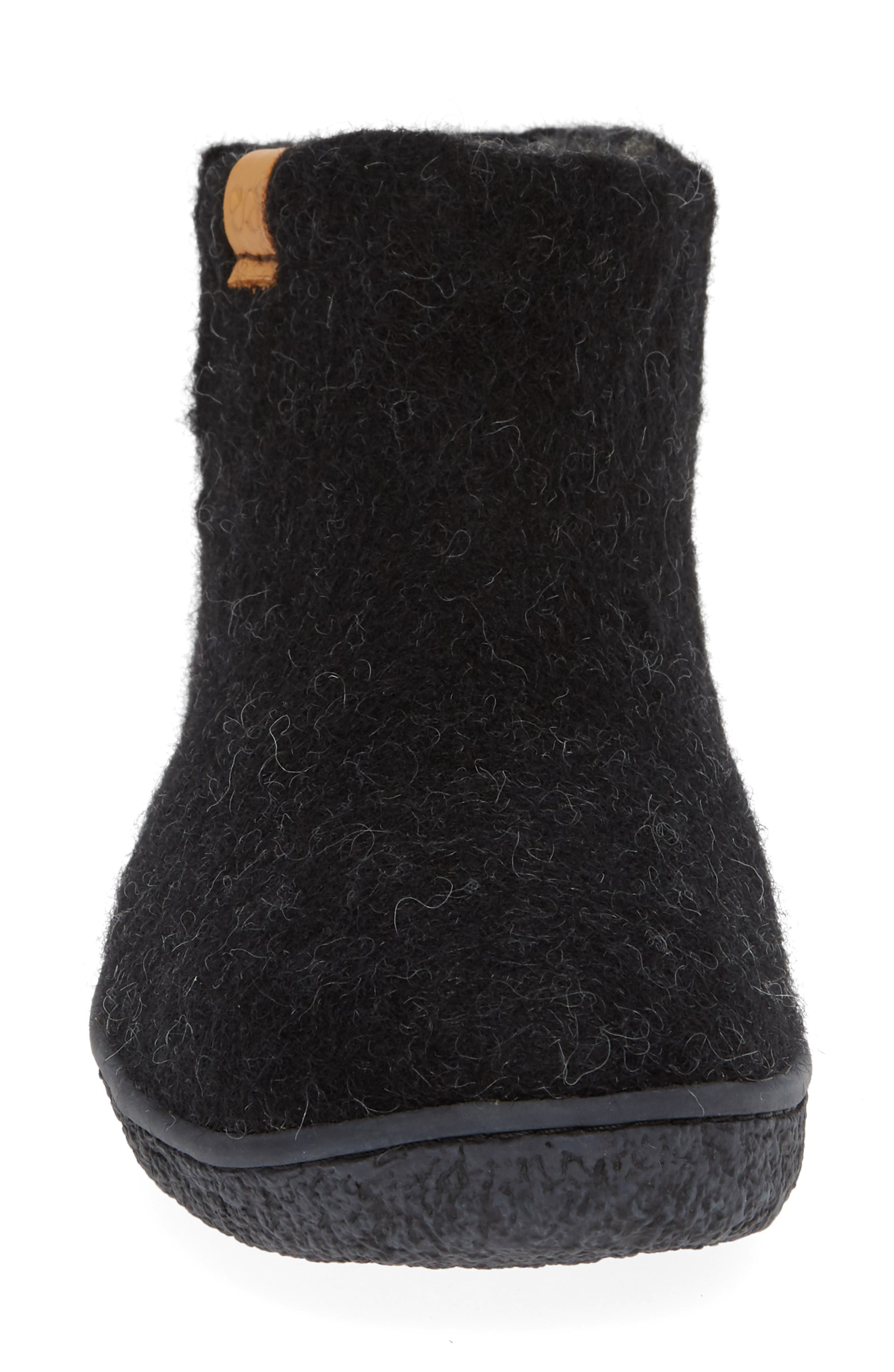GREEN COMFORT,                             Nepal Slipper Bootie,                             Alternate thumbnail 4, color,                             BLACK WOOL