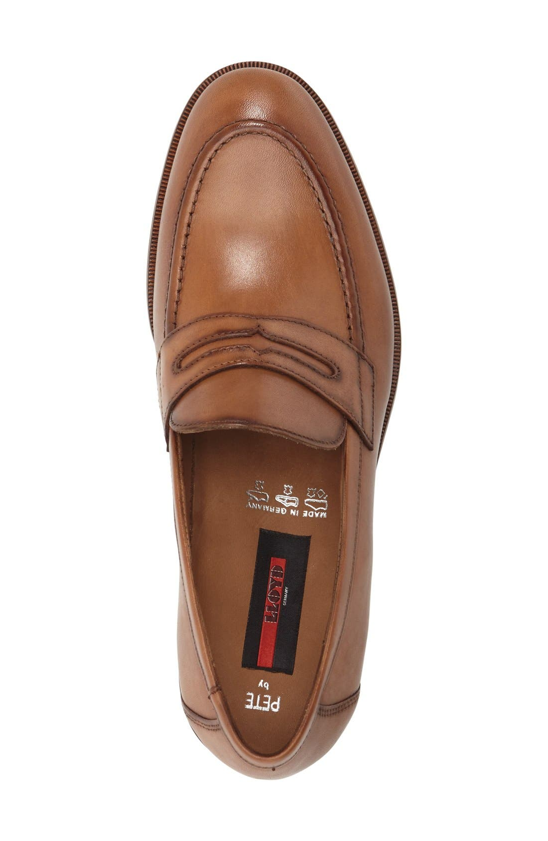 'Pete' Penny Loafer,                             Alternate thumbnail 3, color,                             COGNAC