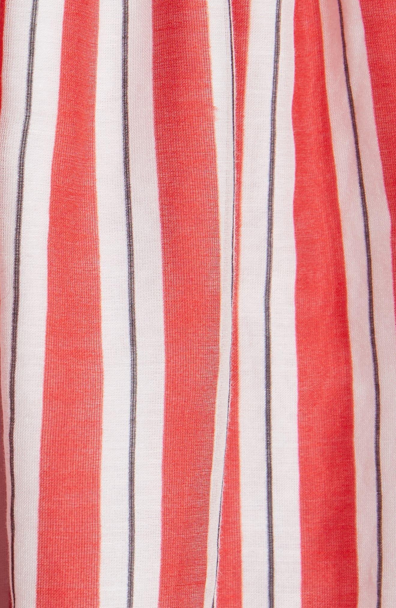 Alessandra Off the Shoulder Silk Top,                             Alternate thumbnail 5, color,