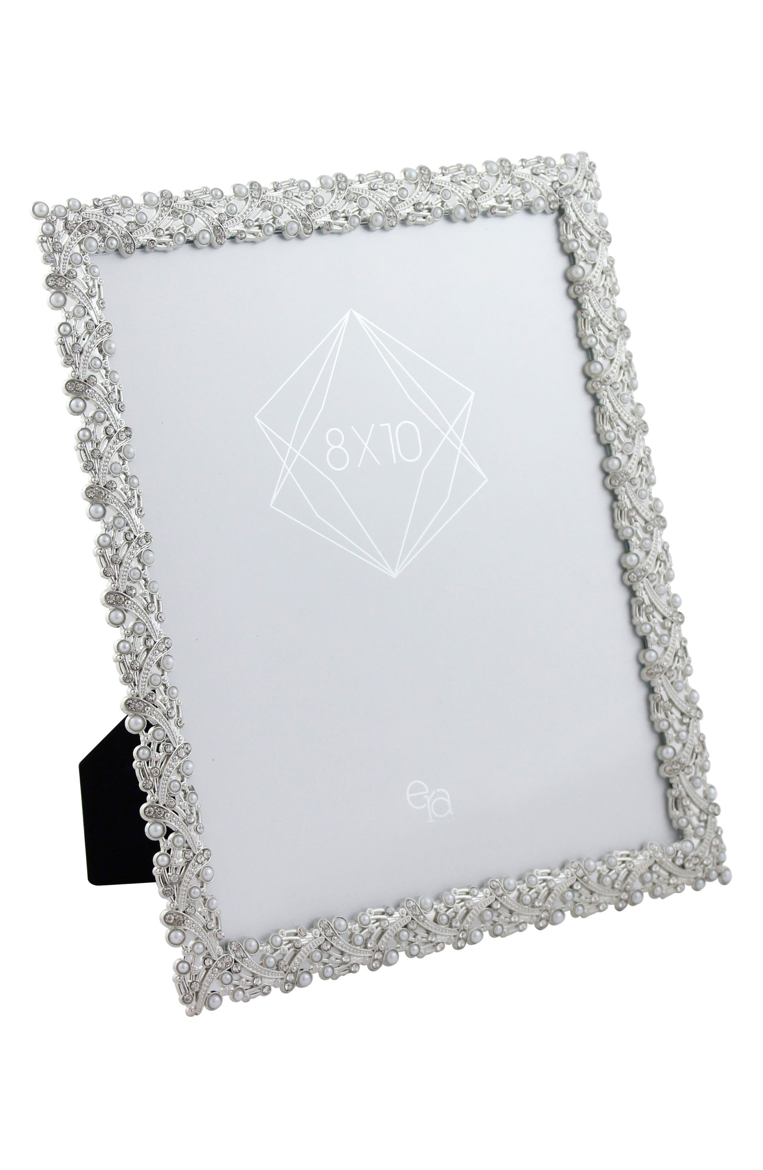 Crystal & Imitation Pearl Picture Frame,                             Alternate thumbnail 2, color,                             040