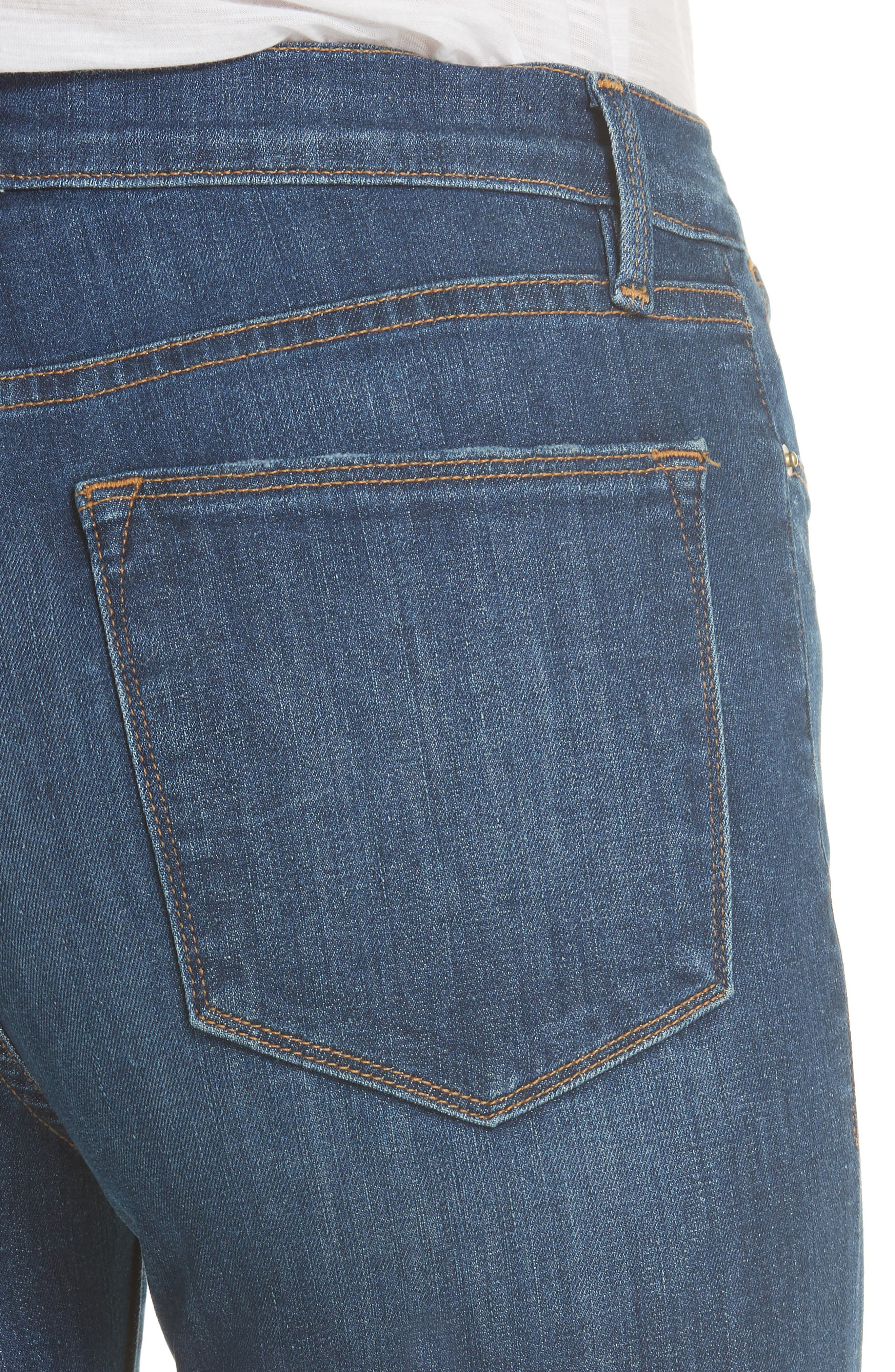 Le High Straight Leg Jeans,                             Alternate thumbnail 4, color,                             YORK