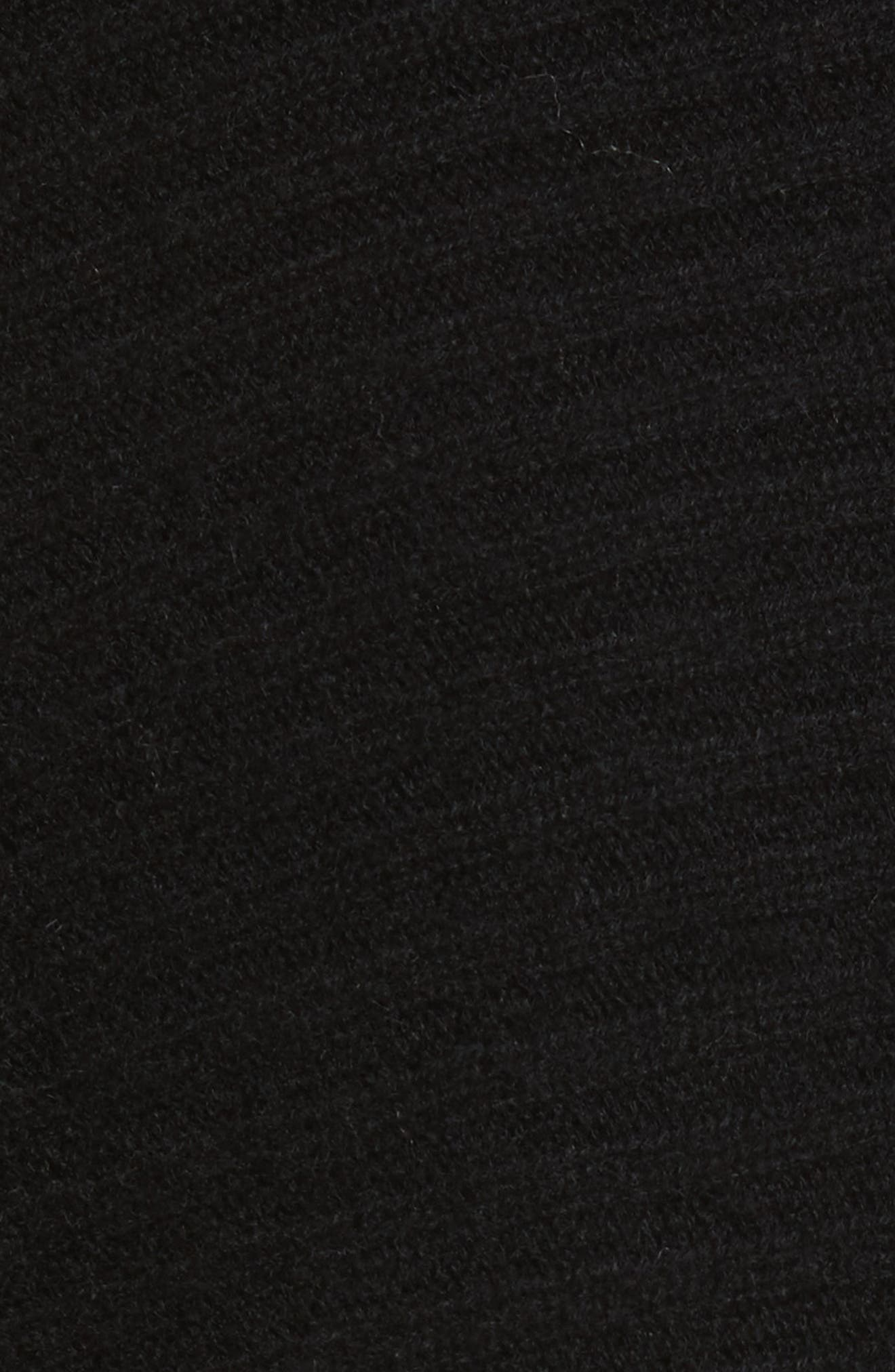 Wool Blend Raglan V-Neck Sweater,                             Alternate thumbnail 5, color,                             001