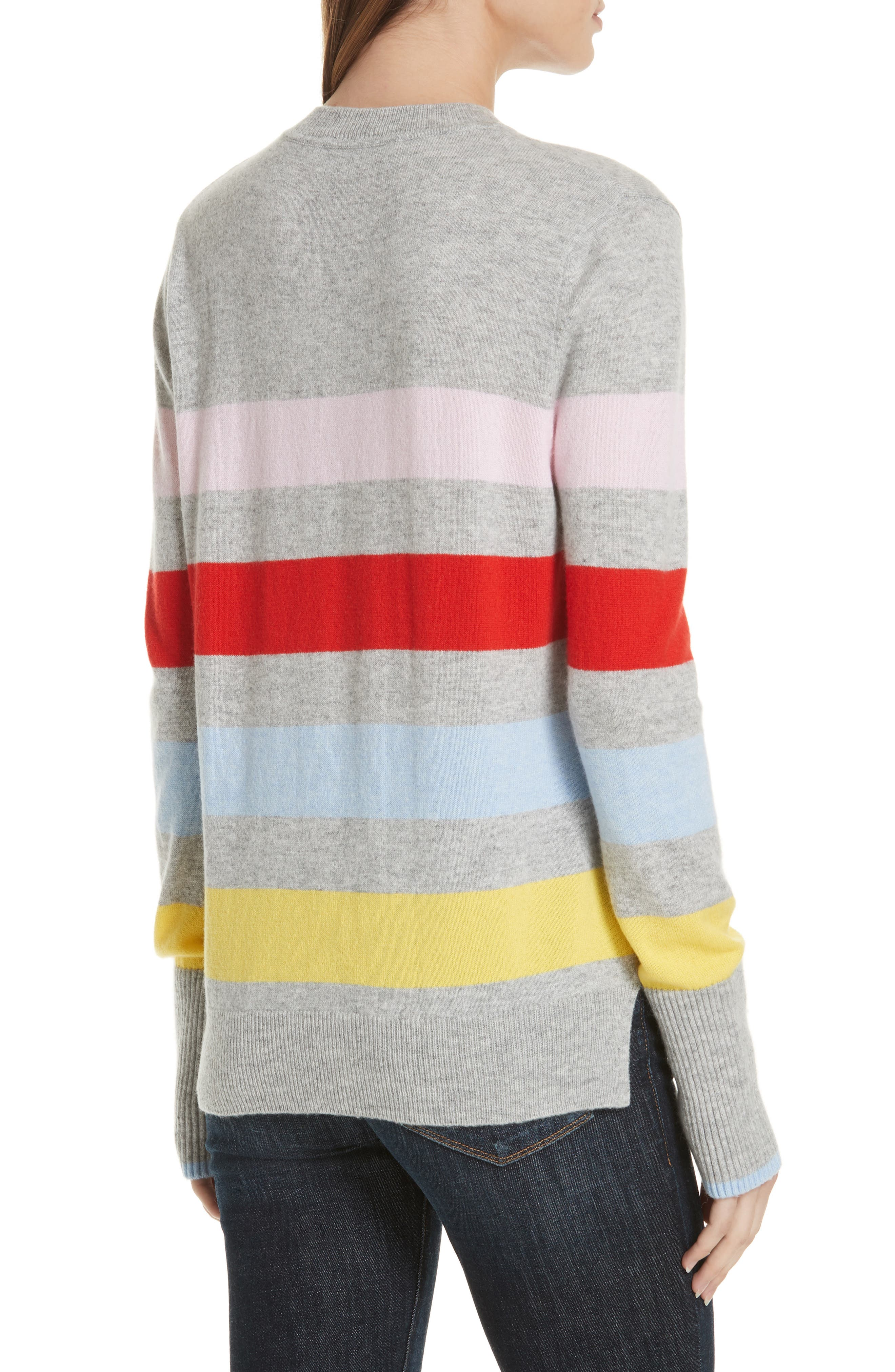 AAA Candy Stripe Cashmere Sweater,                             Alternate thumbnail 2, color,                             020