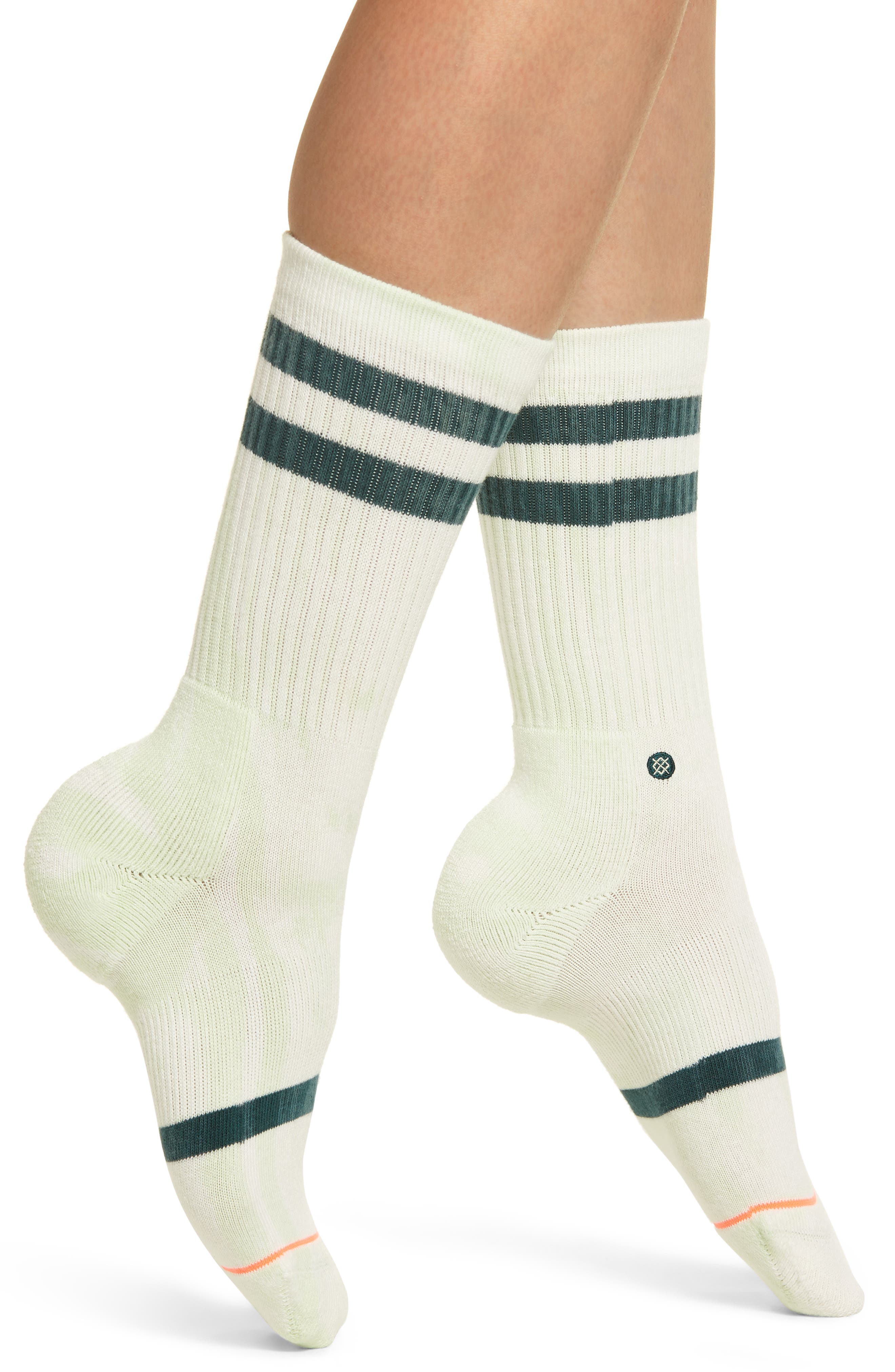 Classic Uncommon Crew Socks,                             Main thumbnail 1, color,                             GREEN