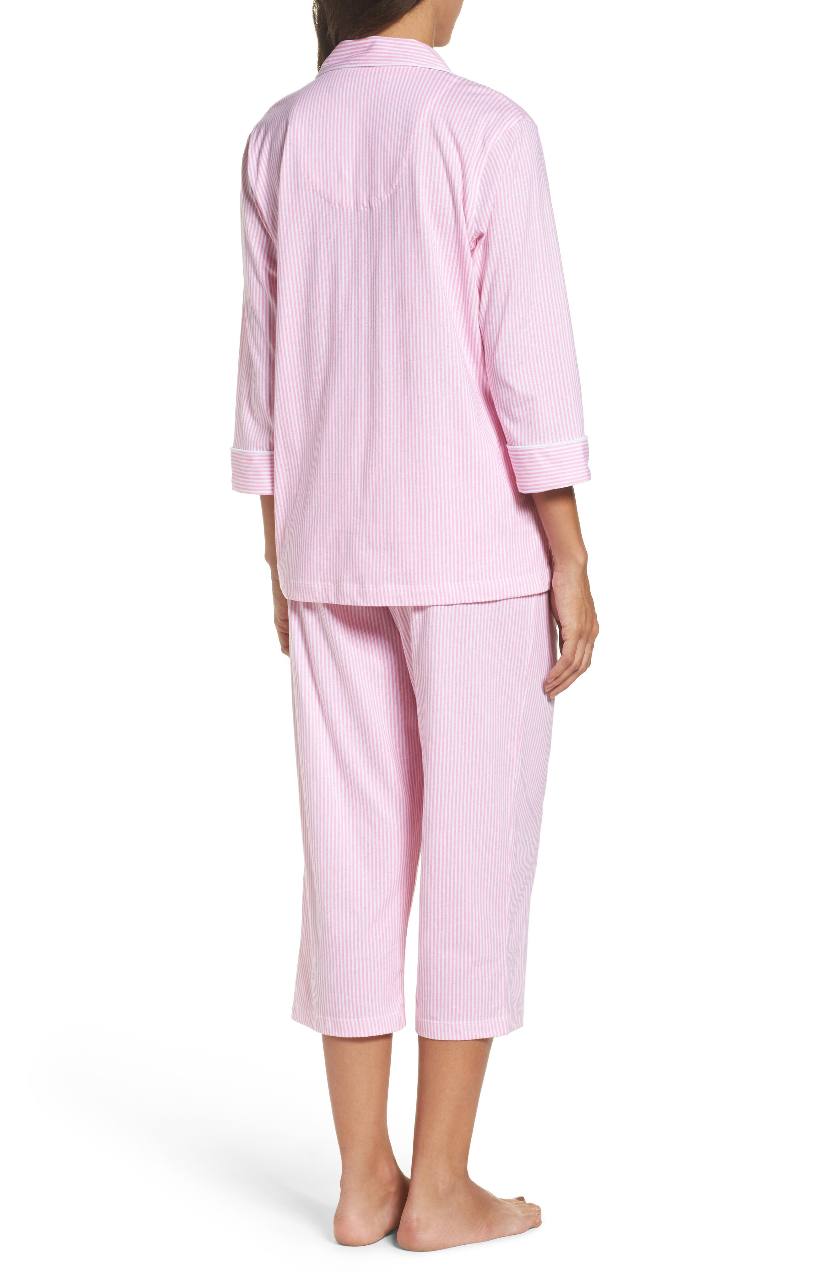 Knit Crop Pajamas,                             Alternate thumbnail 11, color,