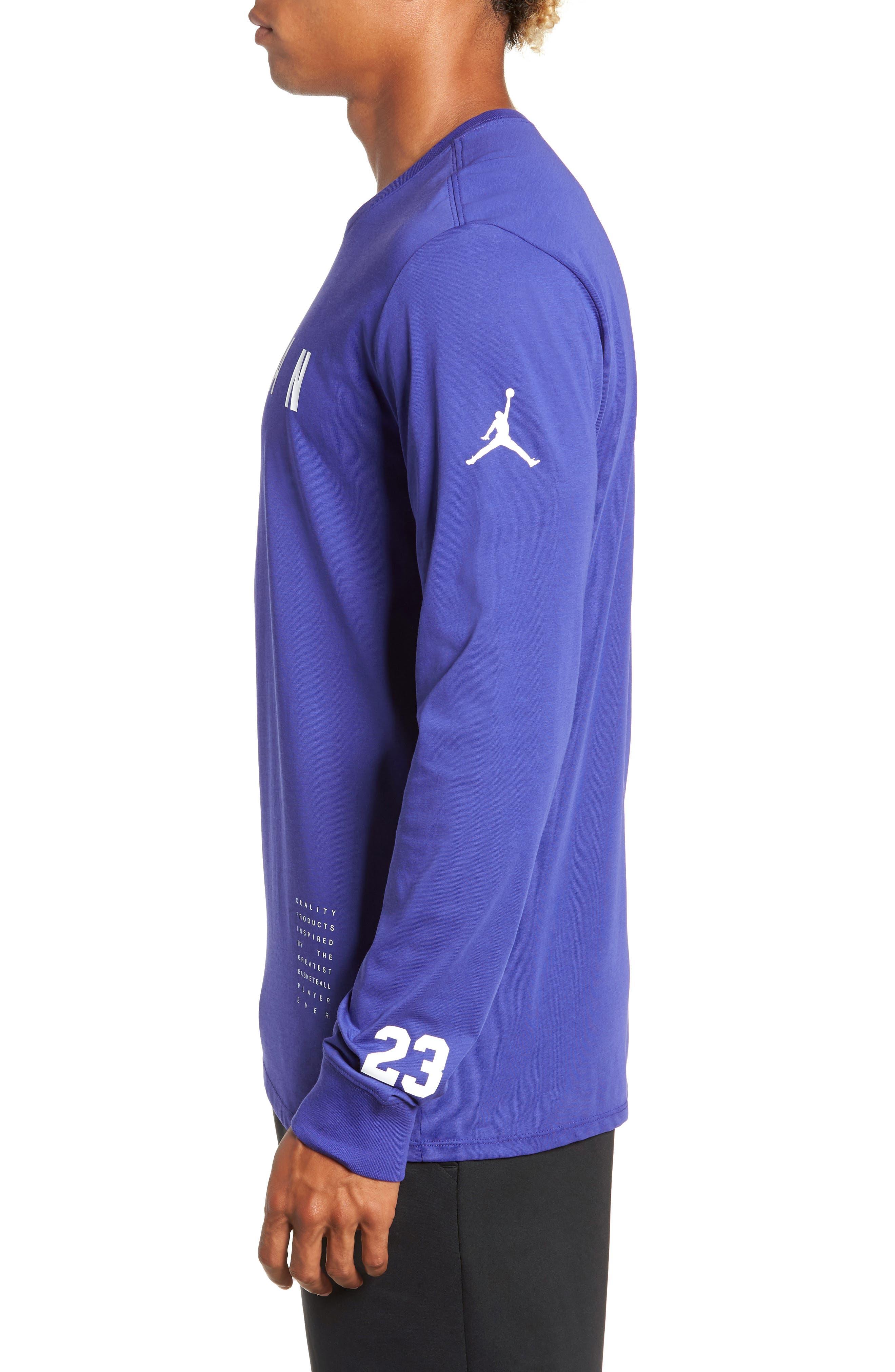 Basketball T-Shirt,                             Alternate thumbnail 3, color,                             BLUE