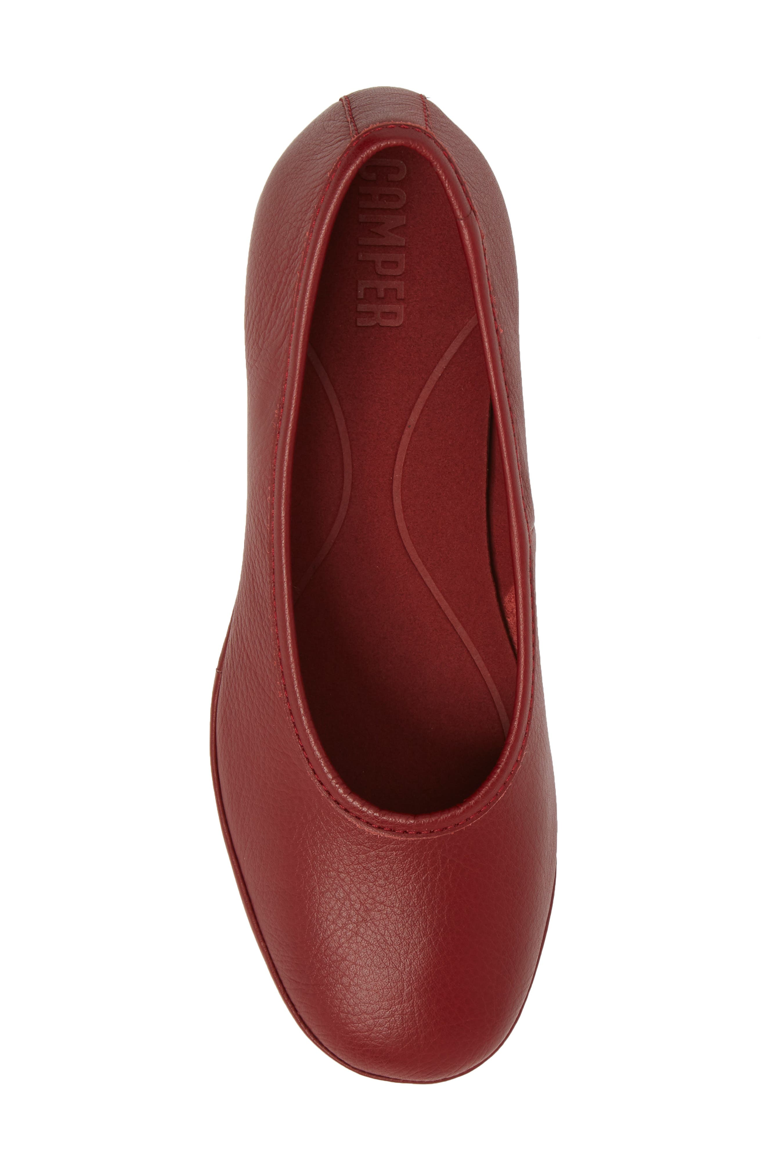 Alright Cone Heel Pump,                             Alternate thumbnail 5, color,                             DARK RED LEATEHR