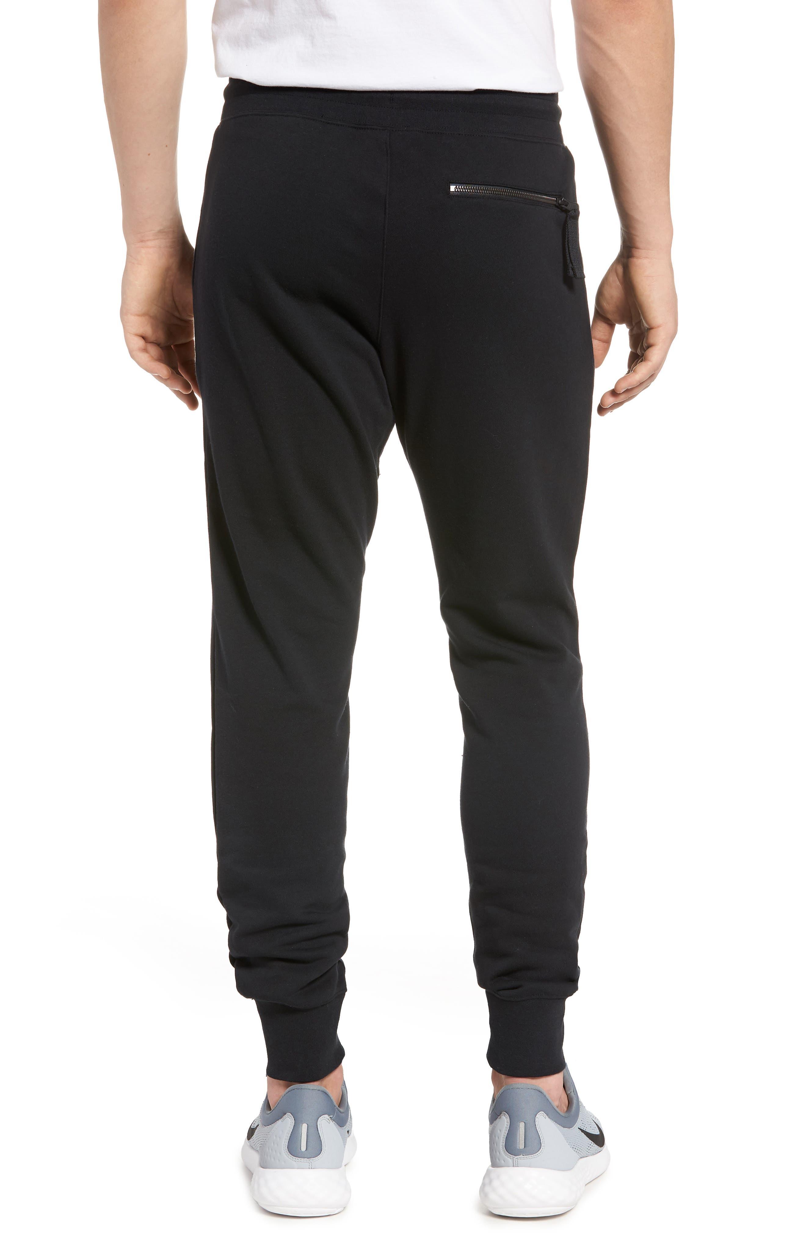 Sportswear Air Force 1 Jogger Pants,                             Alternate thumbnail 2, color,                             BLACK/ ANTHRACITE