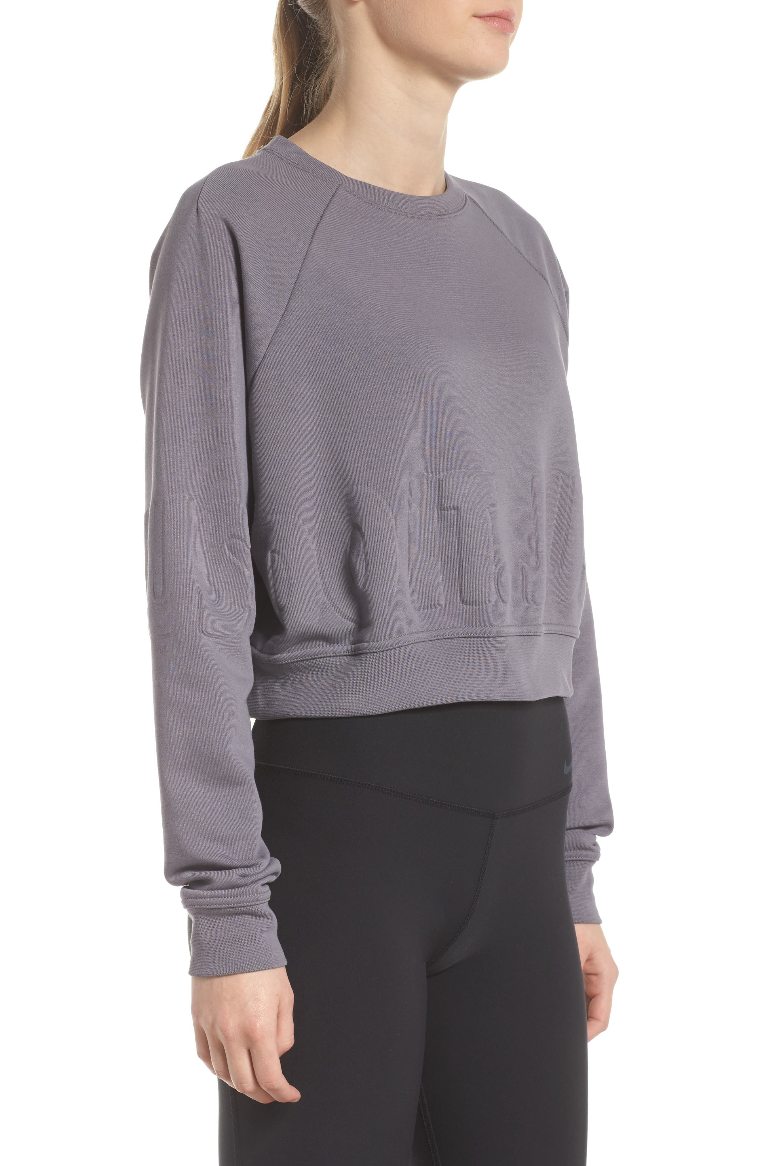 Long Sleeve Crop Training Top,                             Alternate thumbnail 11, color,
