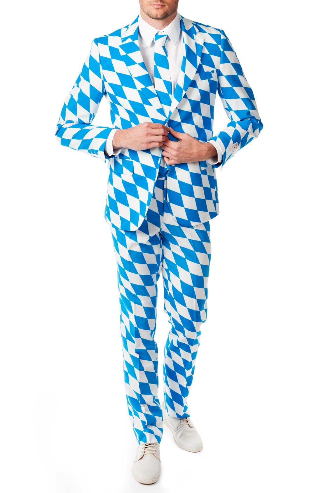 'The Bavarian' Trim Fit Suit with Tie,                             Main thumbnail 1, color,