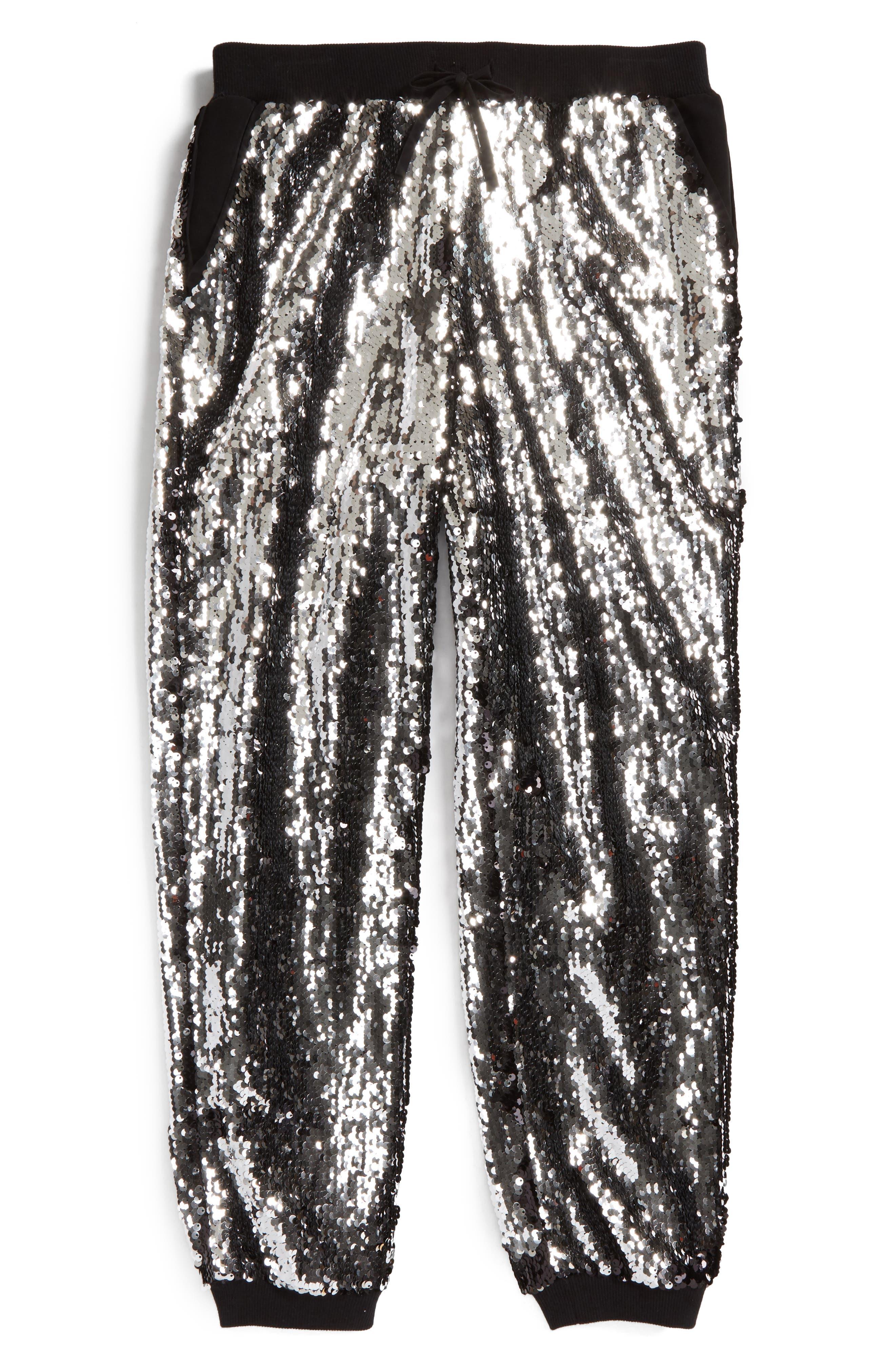 Sequin Jogger Pants,                             Alternate thumbnail 2, color,                             003