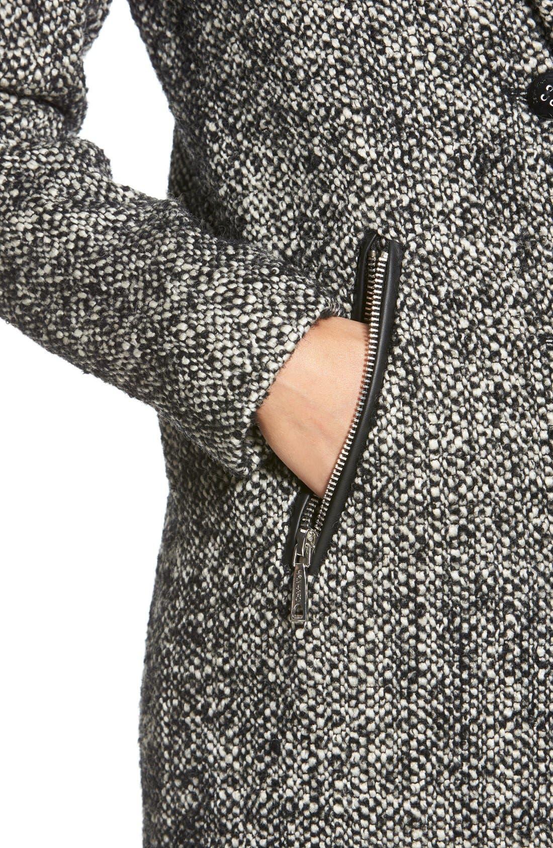 Tweed Walking Coat,                             Alternate thumbnail 2, color,                             081