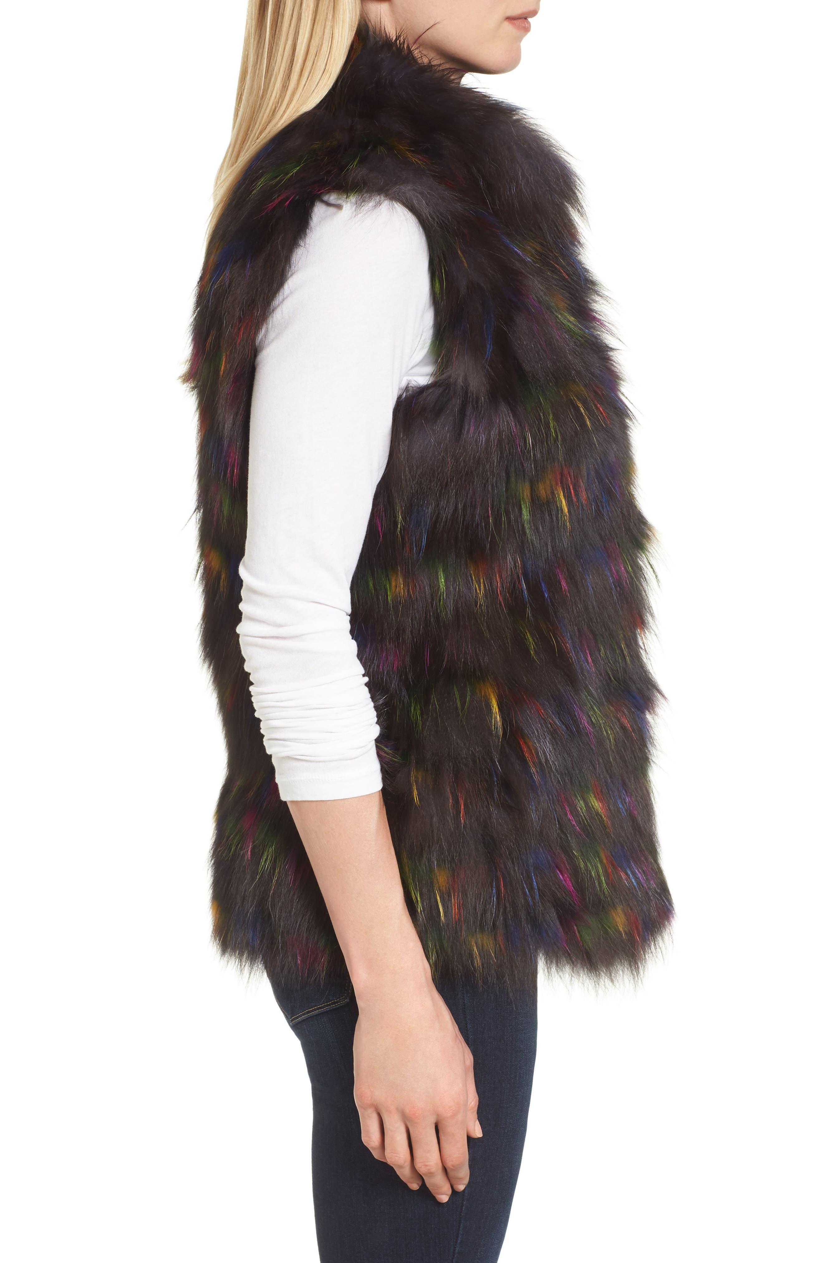 Genuine Fox Fur Vest,                             Alternate thumbnail 3, color,                             200
