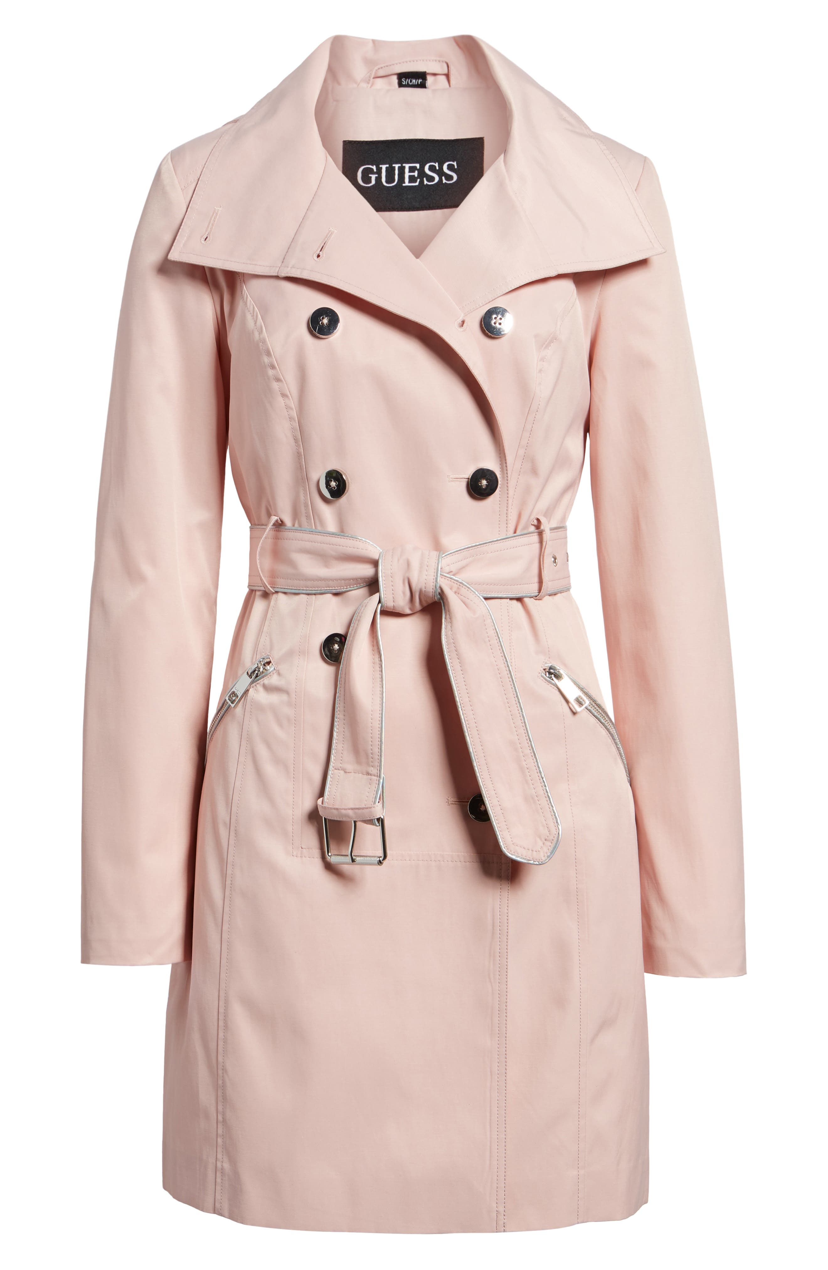 Hooded Piped Trench Coat,                             Alternate thumbnail 11, color,