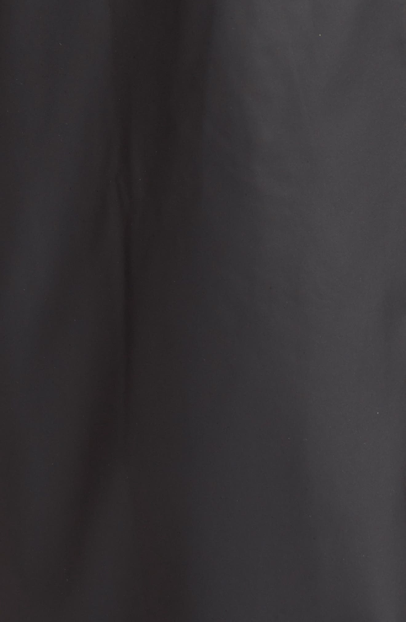 Waterproof Hooded Long Rain Jacket,                             Alternate thumbnail 8, color,                             BLACK