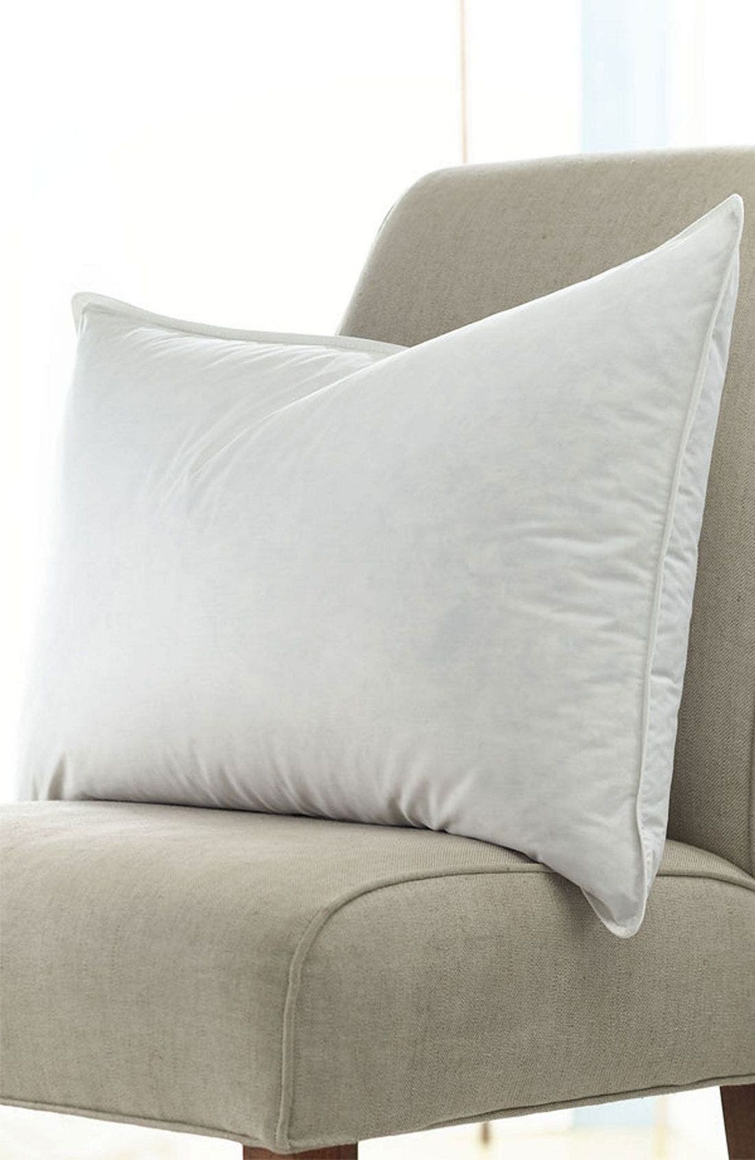 'Home Collection' Hypoallergenic Pillow,                             Alternate thumbnail 4, color,                             WHI