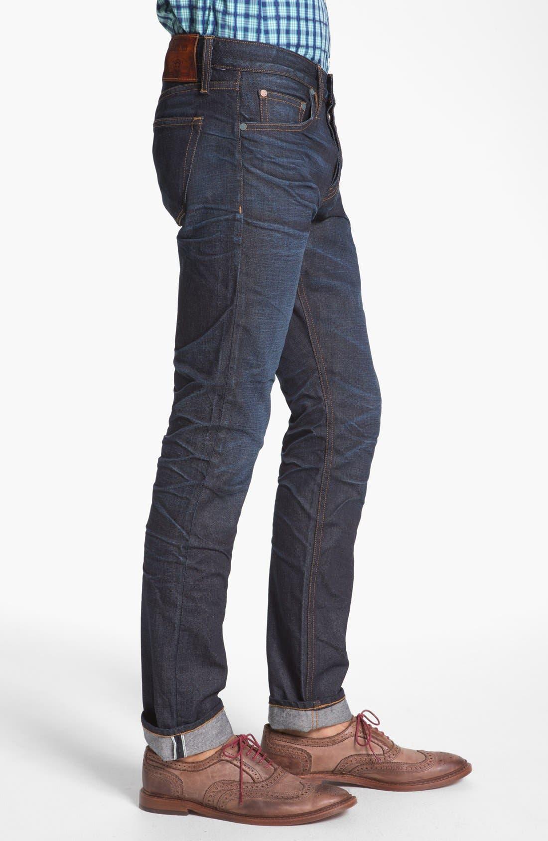 ASBURY PARK,                             '1888 Skinny Fit' Raw Selvedge Jeans,                             Alternate thumbnail 3, color,                             401