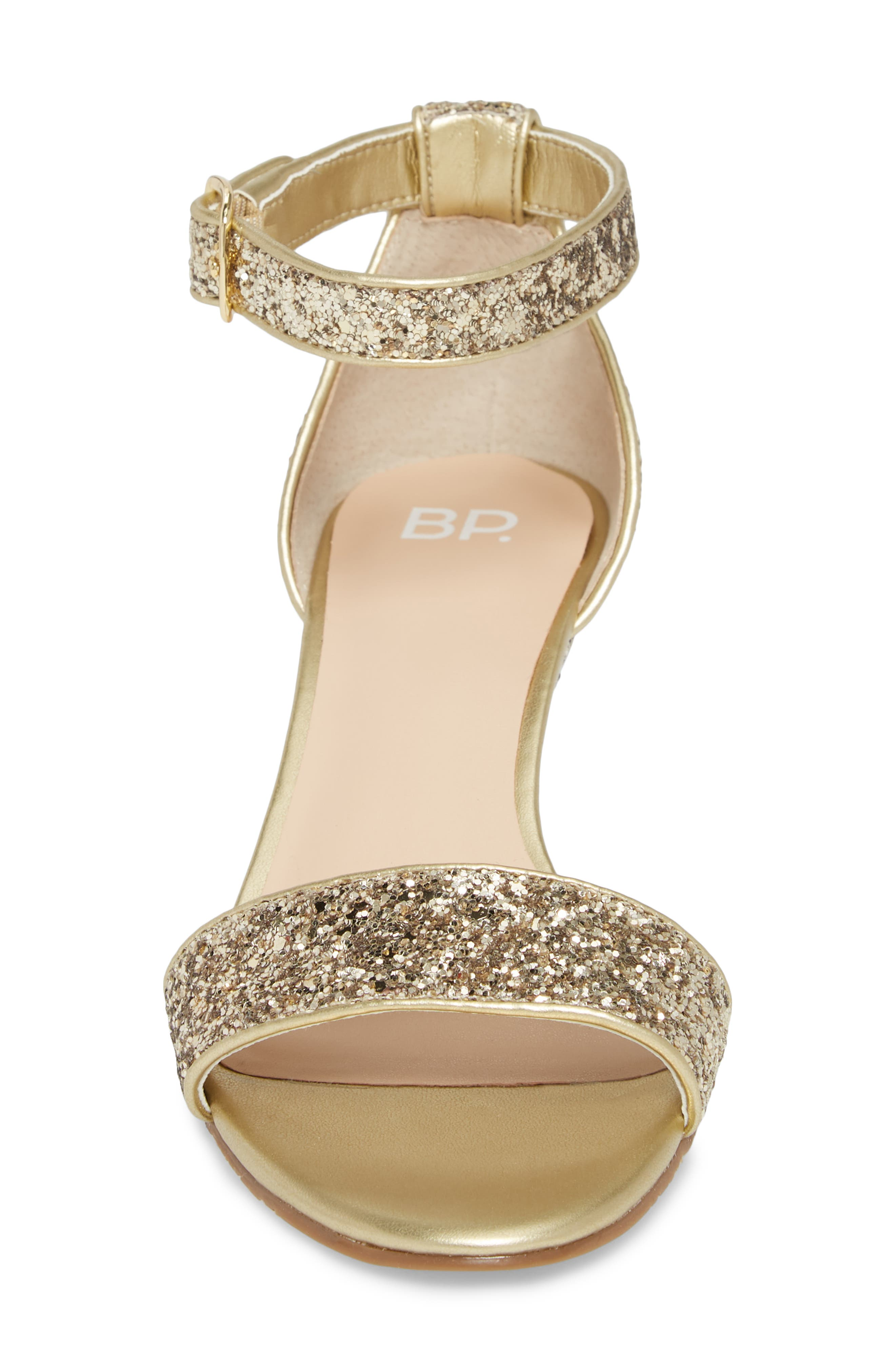 'Roxie' Wedge Sandal,                             Alternate thumbnail 4, color,                             GOLD GLITTER