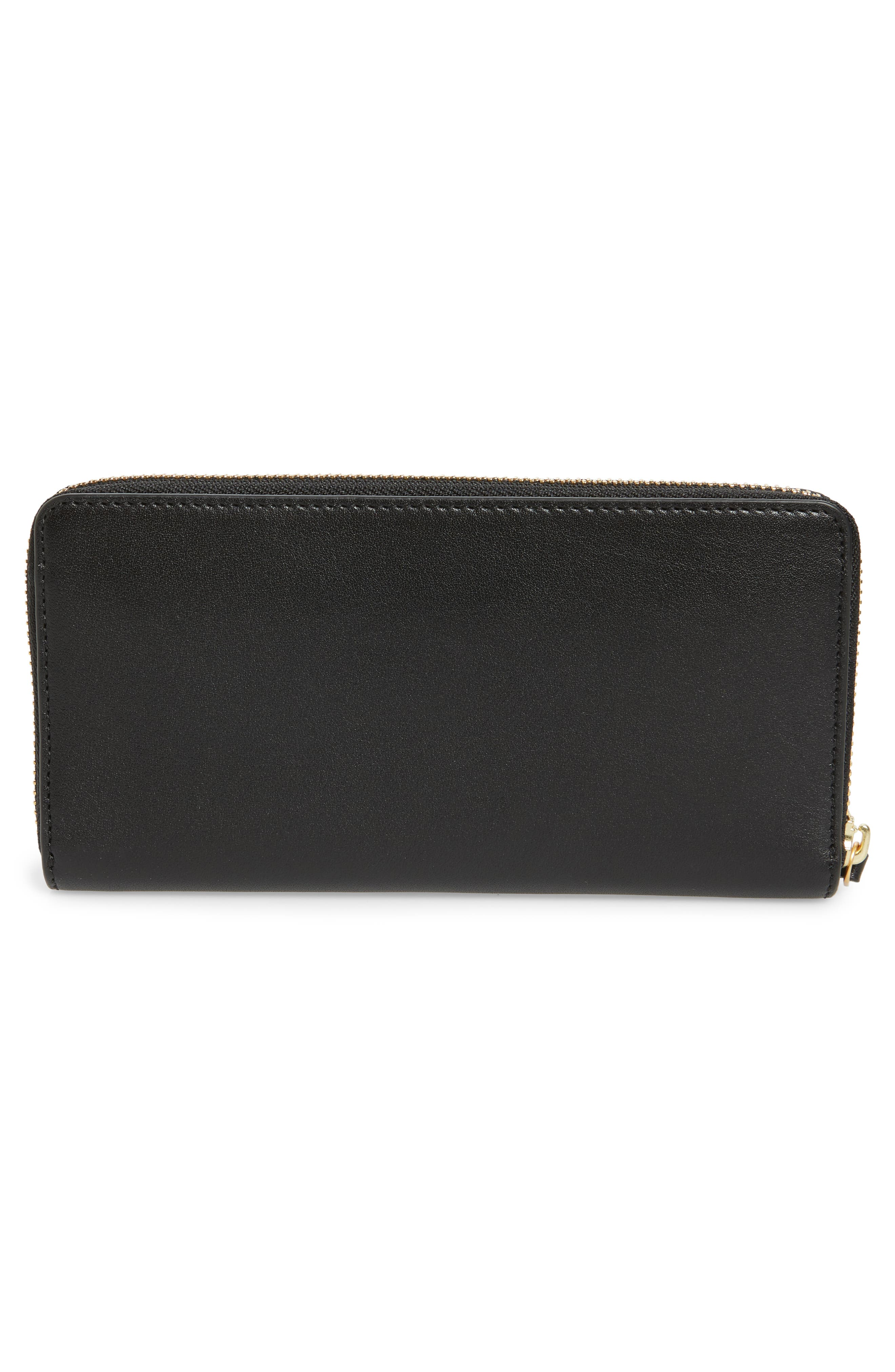 Charlie Leather Continental Wallet,                             Alternate thumbnail 7, color,