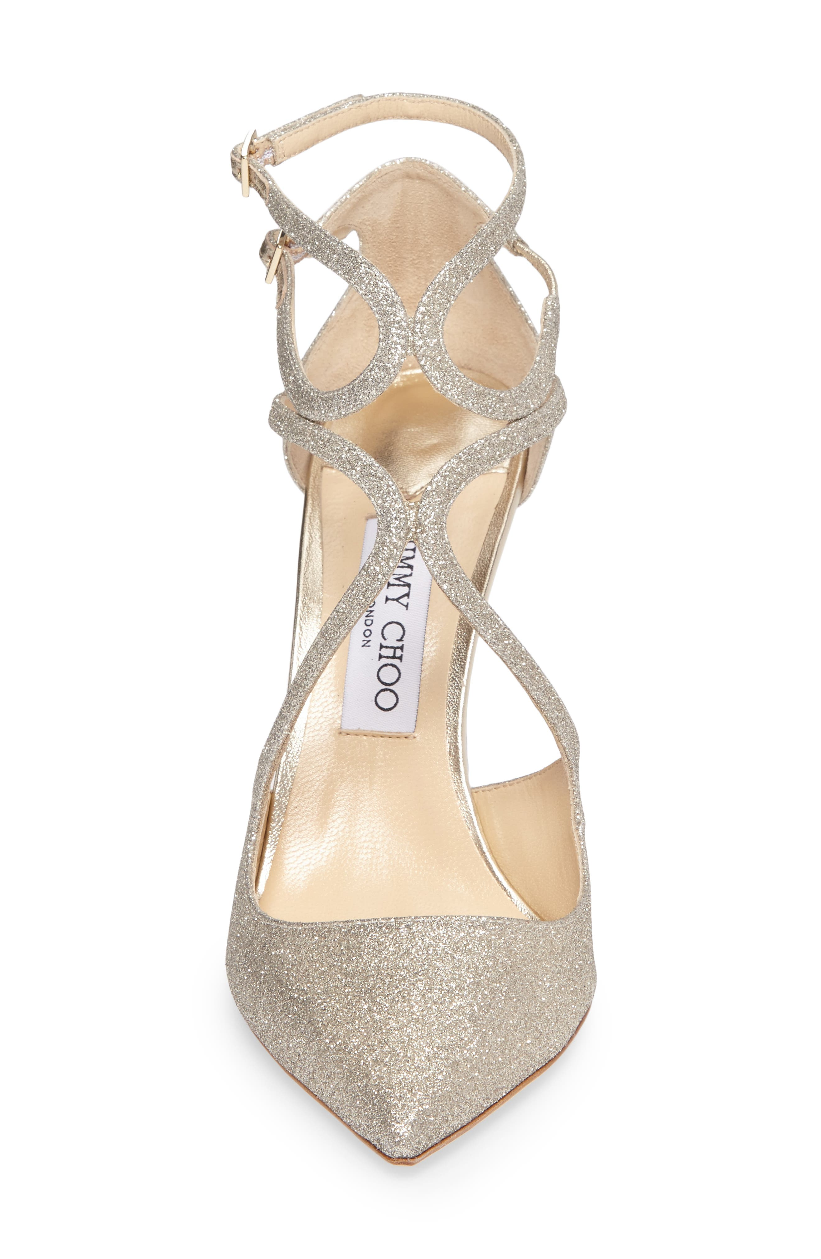 Lancer Strappy Glitter Pump,                             Alternate thumbnail 4, color,                             040