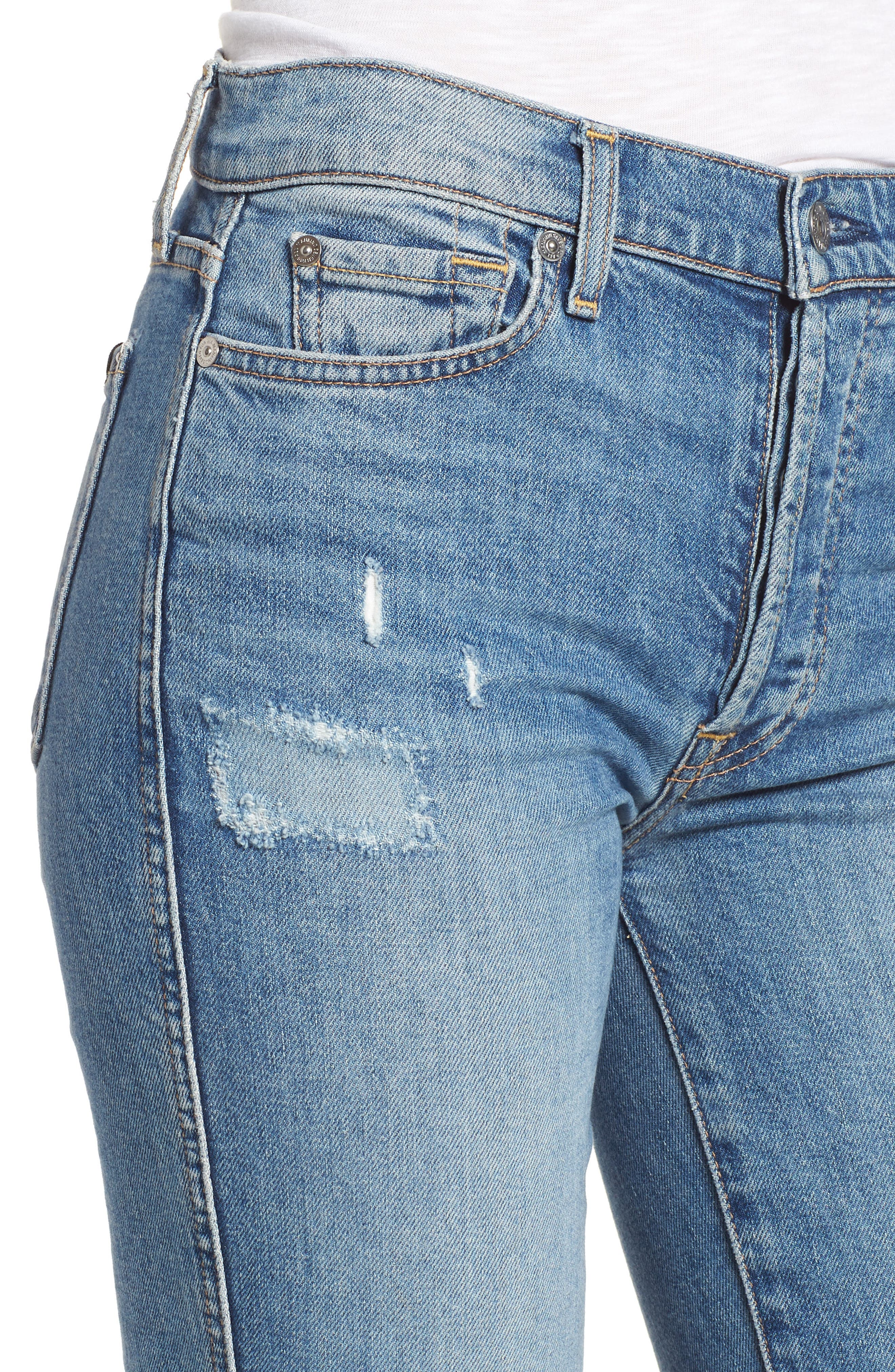 Edie High Waist Crop Straight Leg Jeans,                             Alternate thumbnail 17, color,