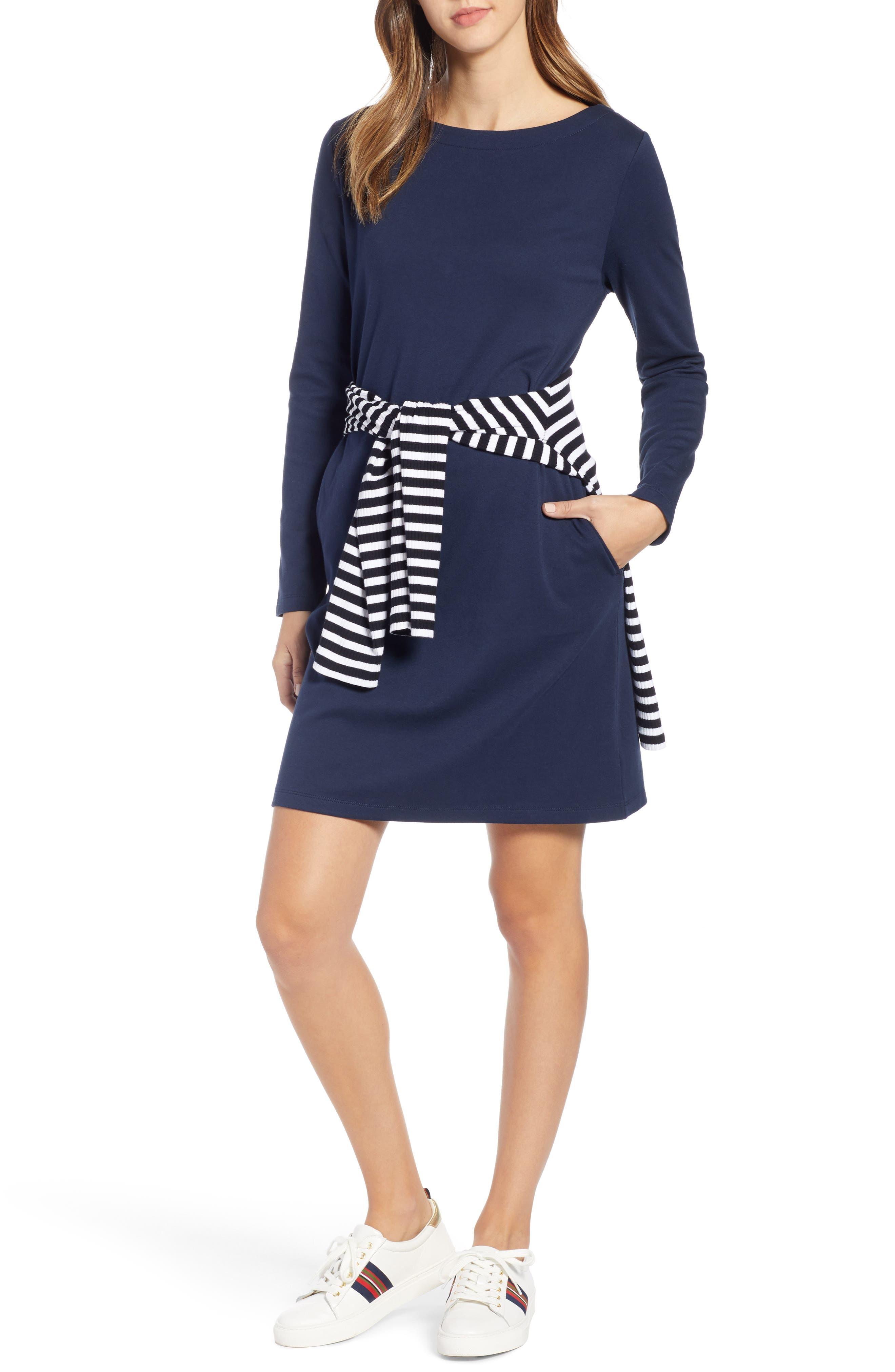 Petite 1901 Knit Shift Dress, Blue